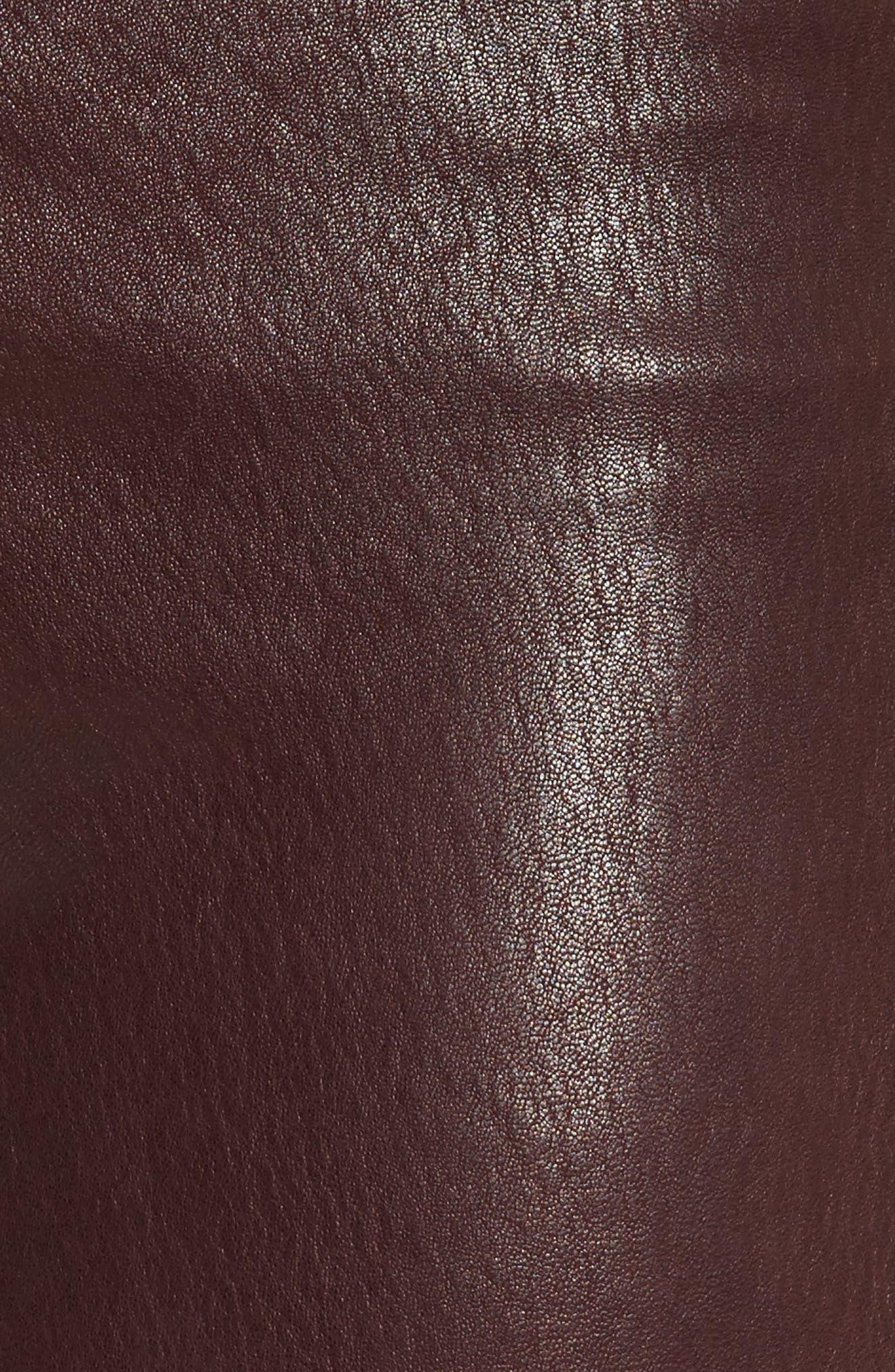 Lambskin Leather Pants,                             Alternate thumbnail 5, color,                             230