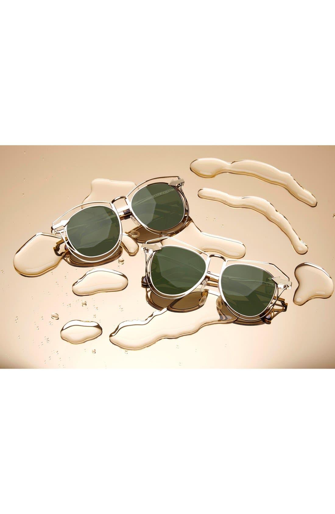 'Marguerite' 52mm Sunglasses,                             Alternate thumbnail 3, color,                             GOLD/ TORTOISE