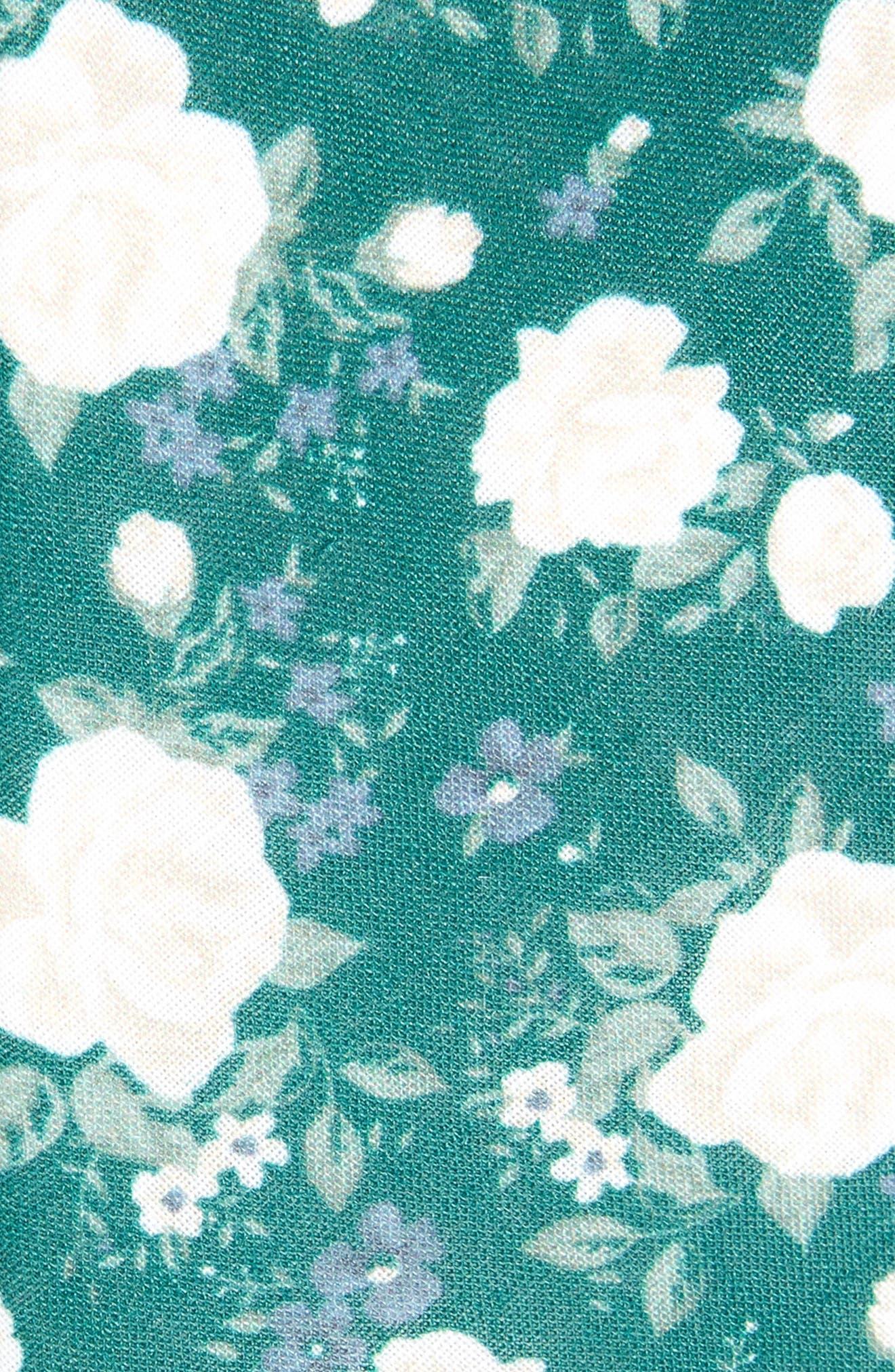Hodgkiss Flowers Linen Tie,                             Alternate thumbnail 2, color,                             HUNTER GREEN