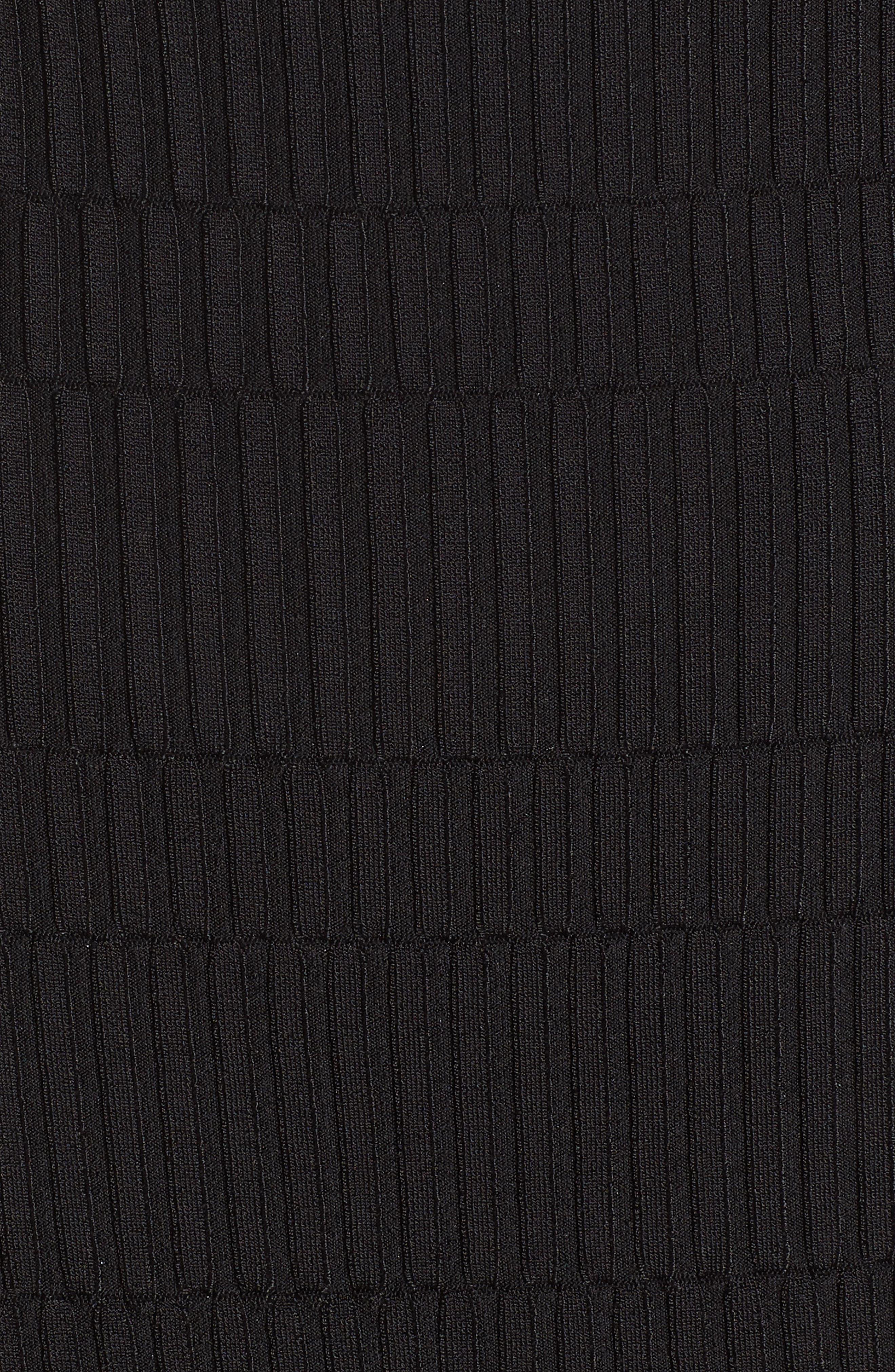TROUVÉ,                             Tube Sweater Dress,                             Alternate thumbnail 6, color,                             001