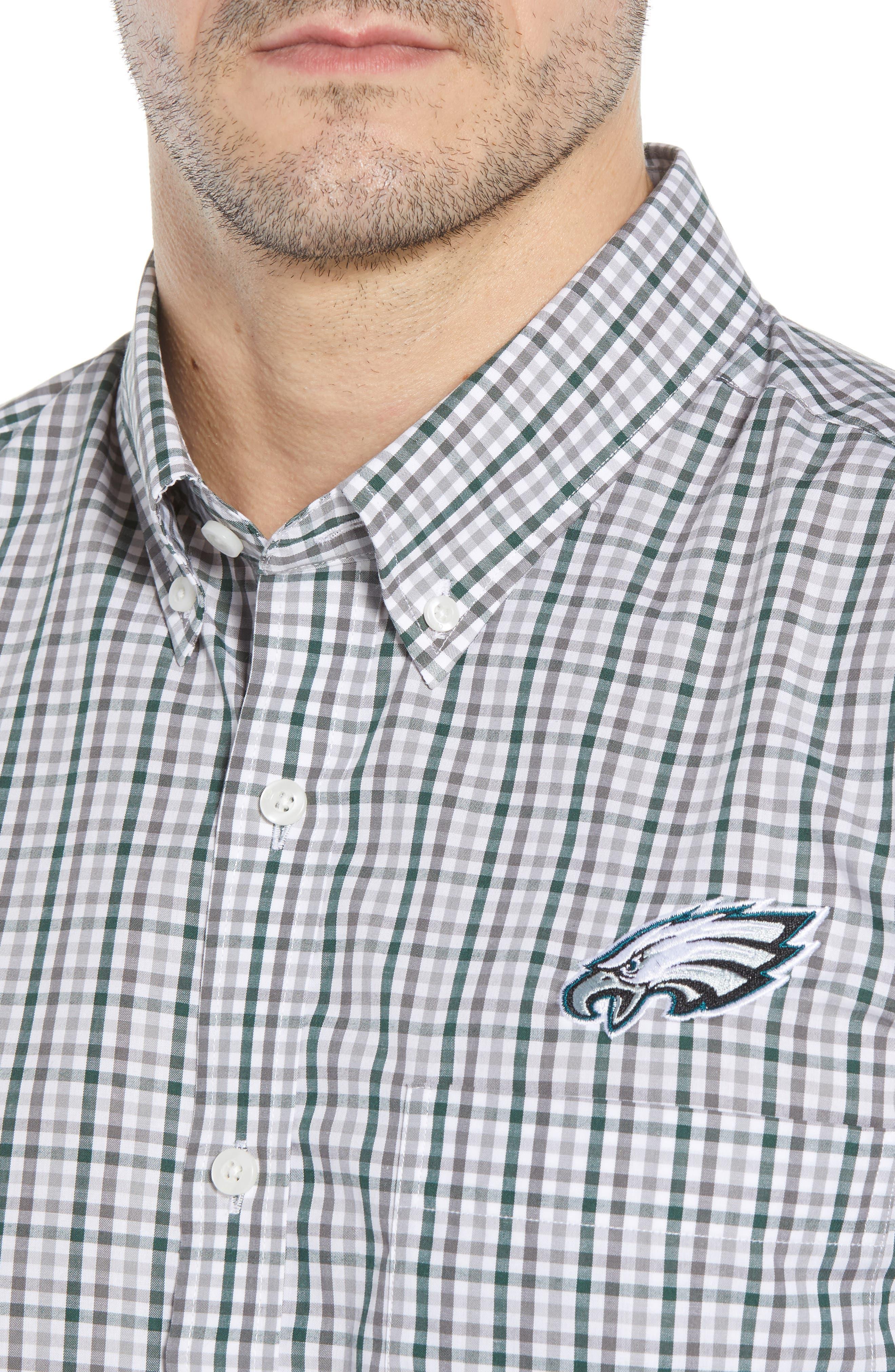 Philadelphia Eagles - Gilman Regular Fit Plaid Sport Shirt,                             Alternate thumbnail 4, color,                             HUNTER