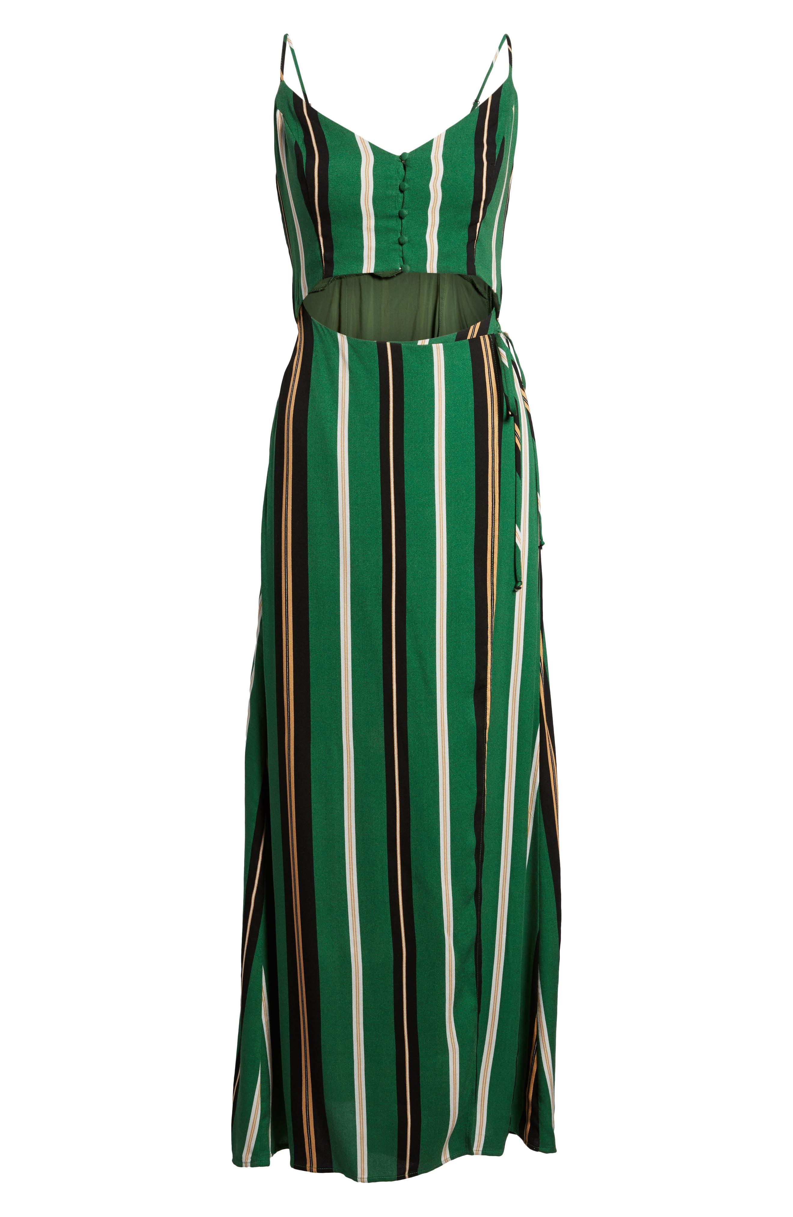 Cutout Wrap Front Maxi Dress,                             Alternate thumbnail 6, color,                             300