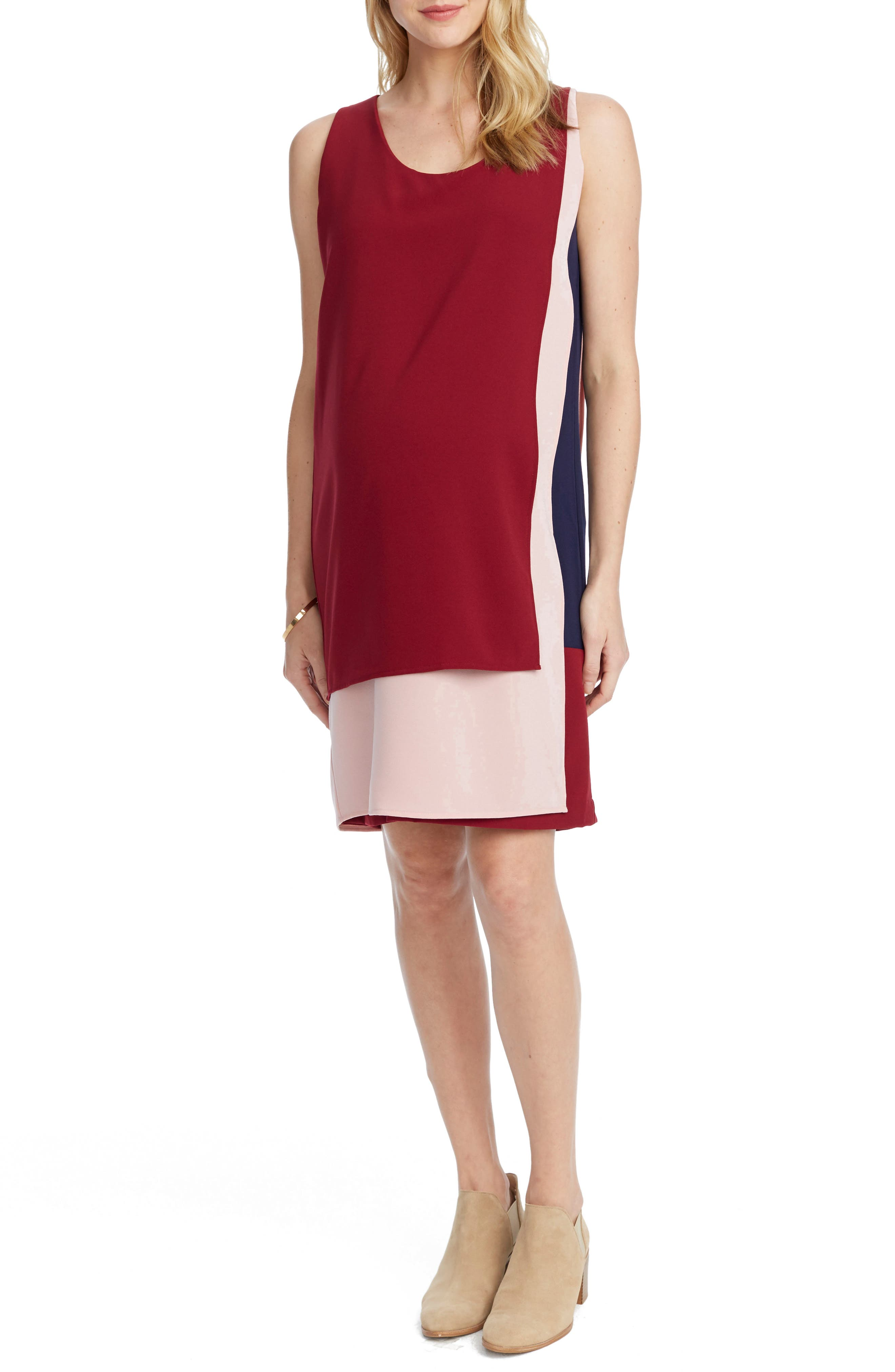 Edina Maternity Shift Dress,                             Alternate thumbnail 3, color,