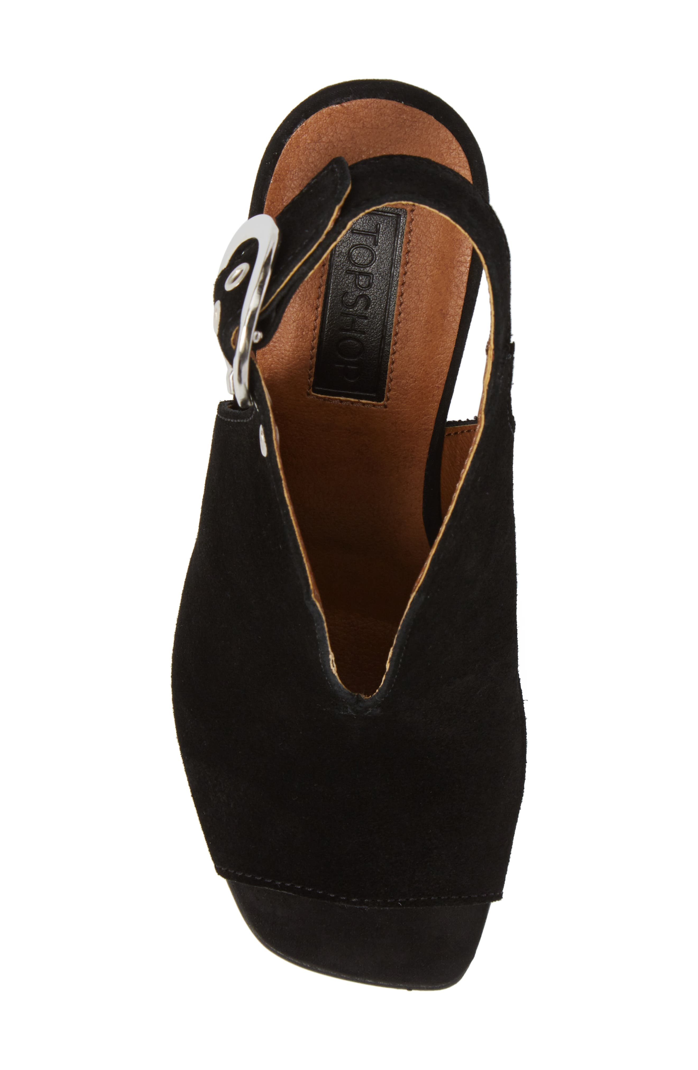 Nika Flared Heel Slingback Sandal,                             Alternate thumbnail 9, color,