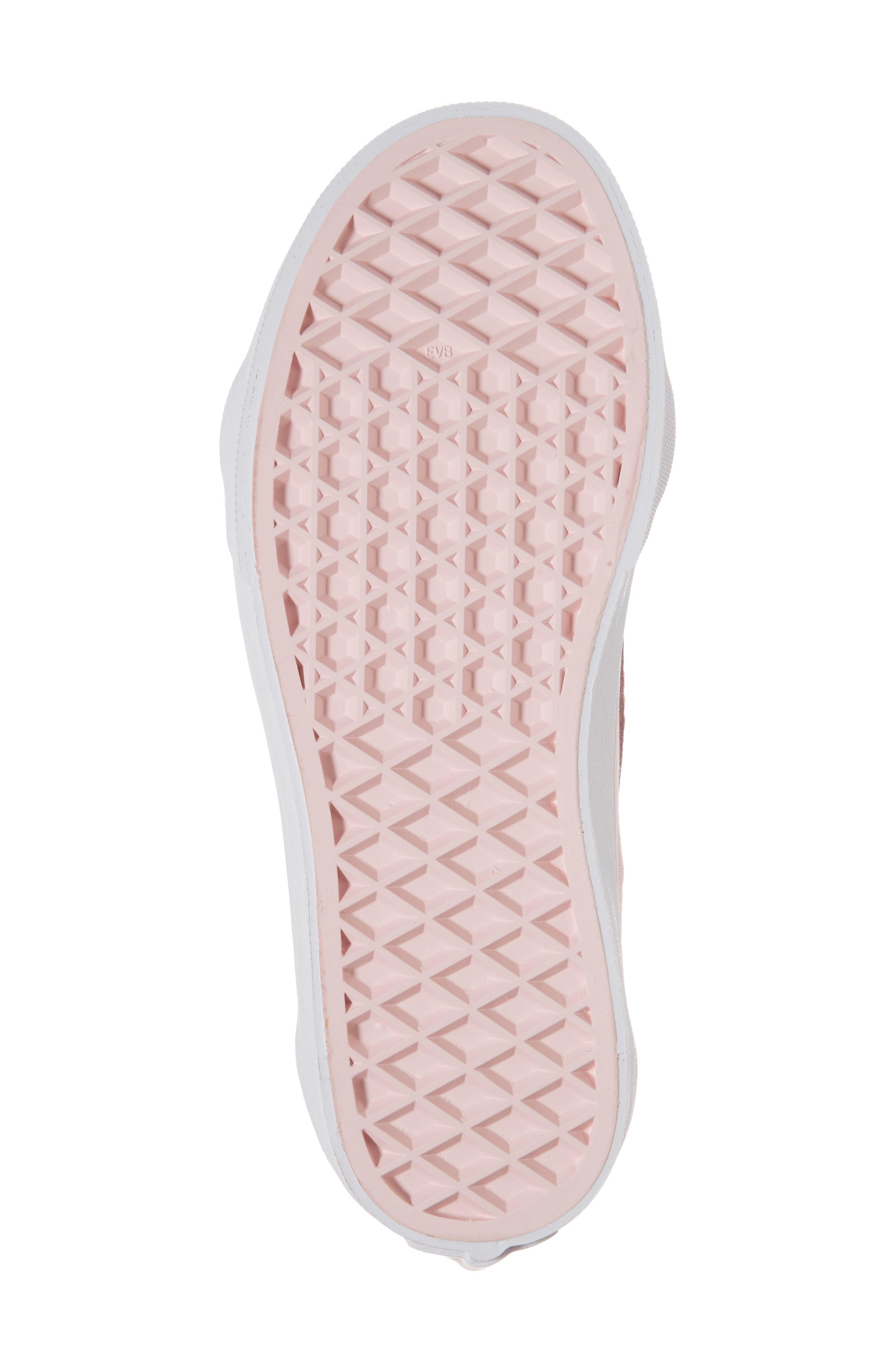 Sk8-Hi Zip Sneaker,                             Alternate thumbnail 6, color,                             CHALK PINK/ TRUE WHITE