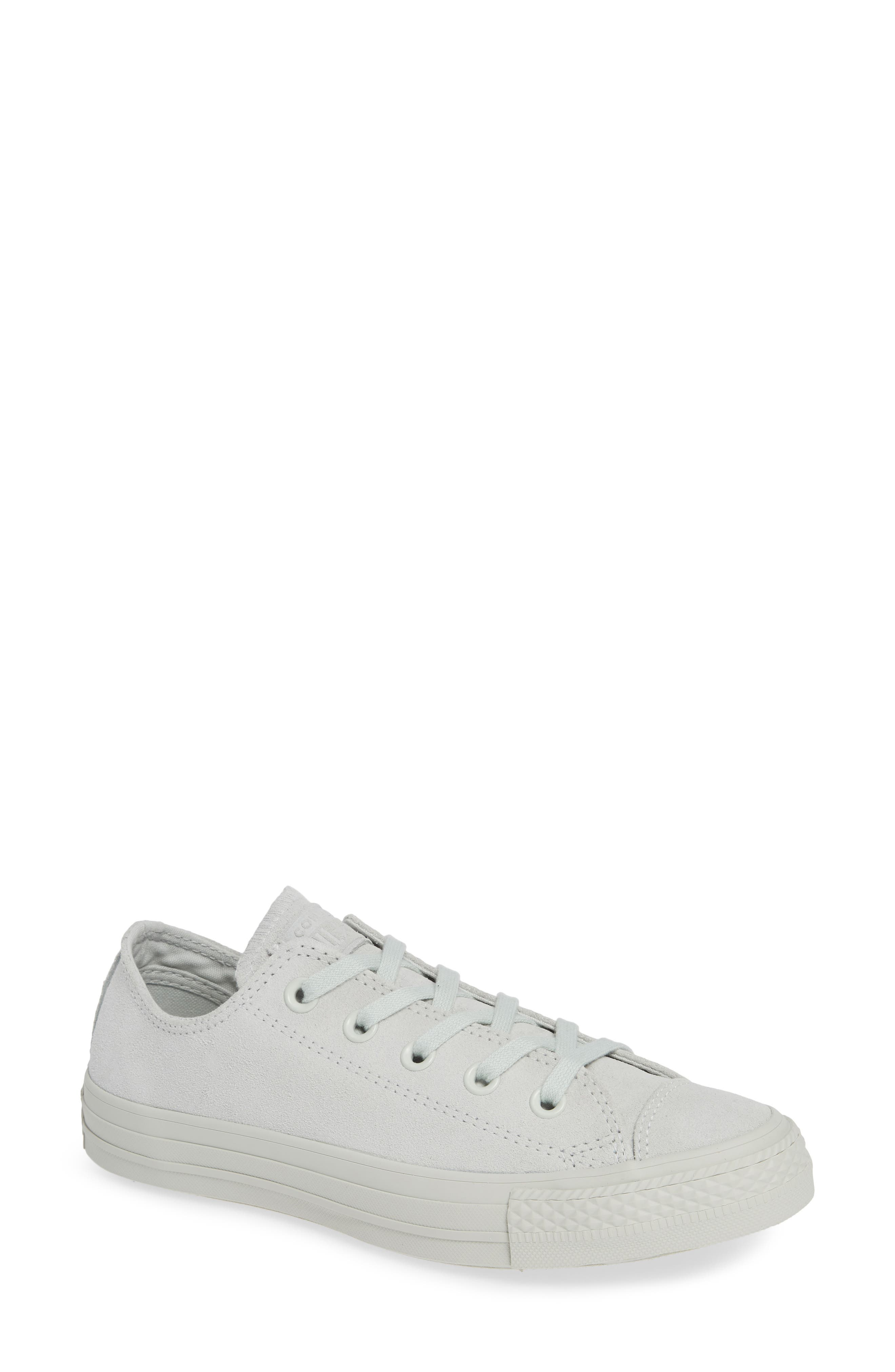 Chuck Taylor<sup>®</sup> All Star<sup>®</sup> Ox Sneaker,                         Main,                         color, LIGHT SILVER SUEDE