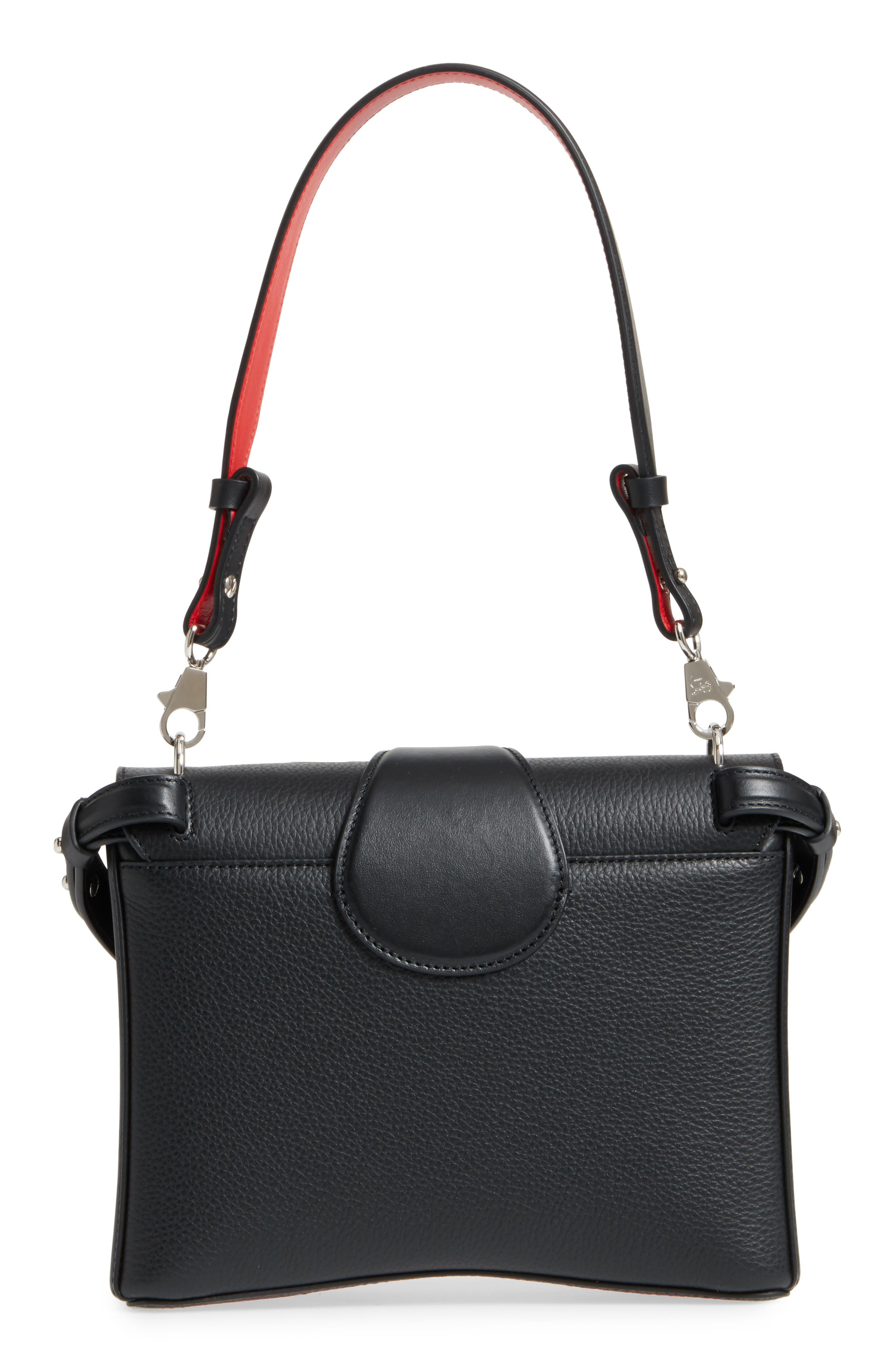 Small Rubylou Calfskin Leather Bag,                             Alternate thumbnail 4, color,                             007