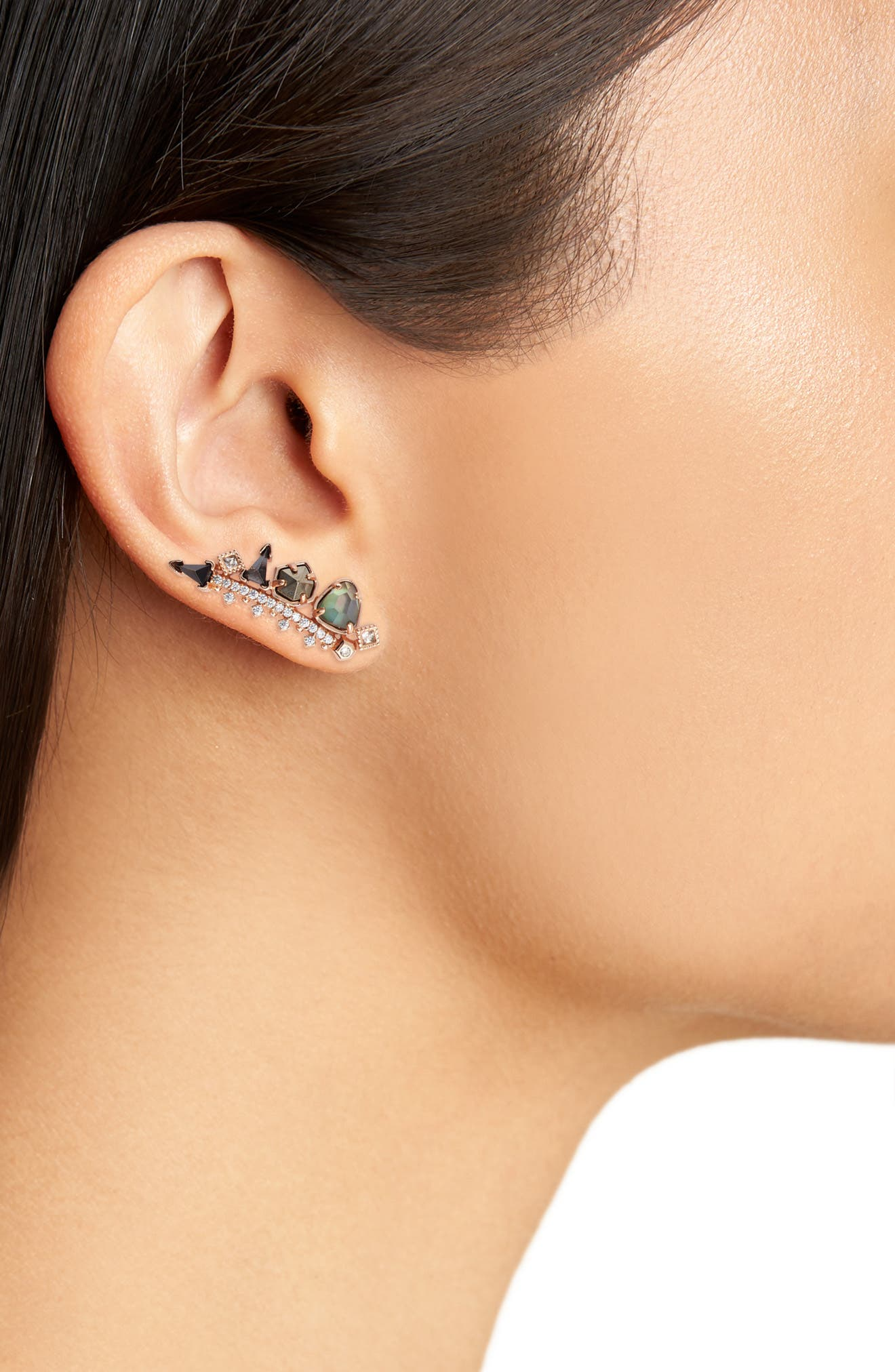 Clarissa Ear Climber,                             Alternate thumbnail 3, color,                             650