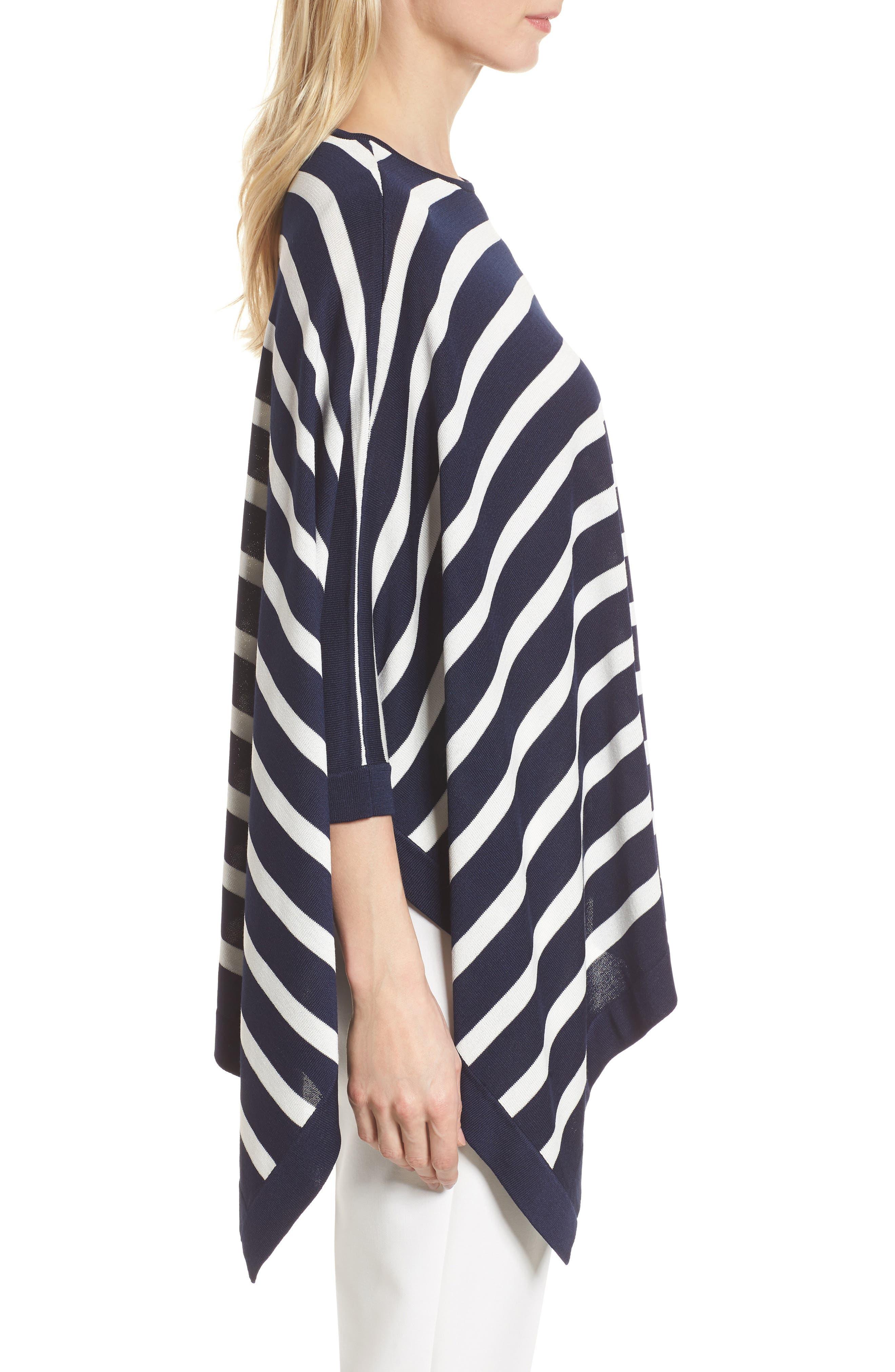 Asymmetrical Striped Sweater,                             Alternate thumbnail 7, color,