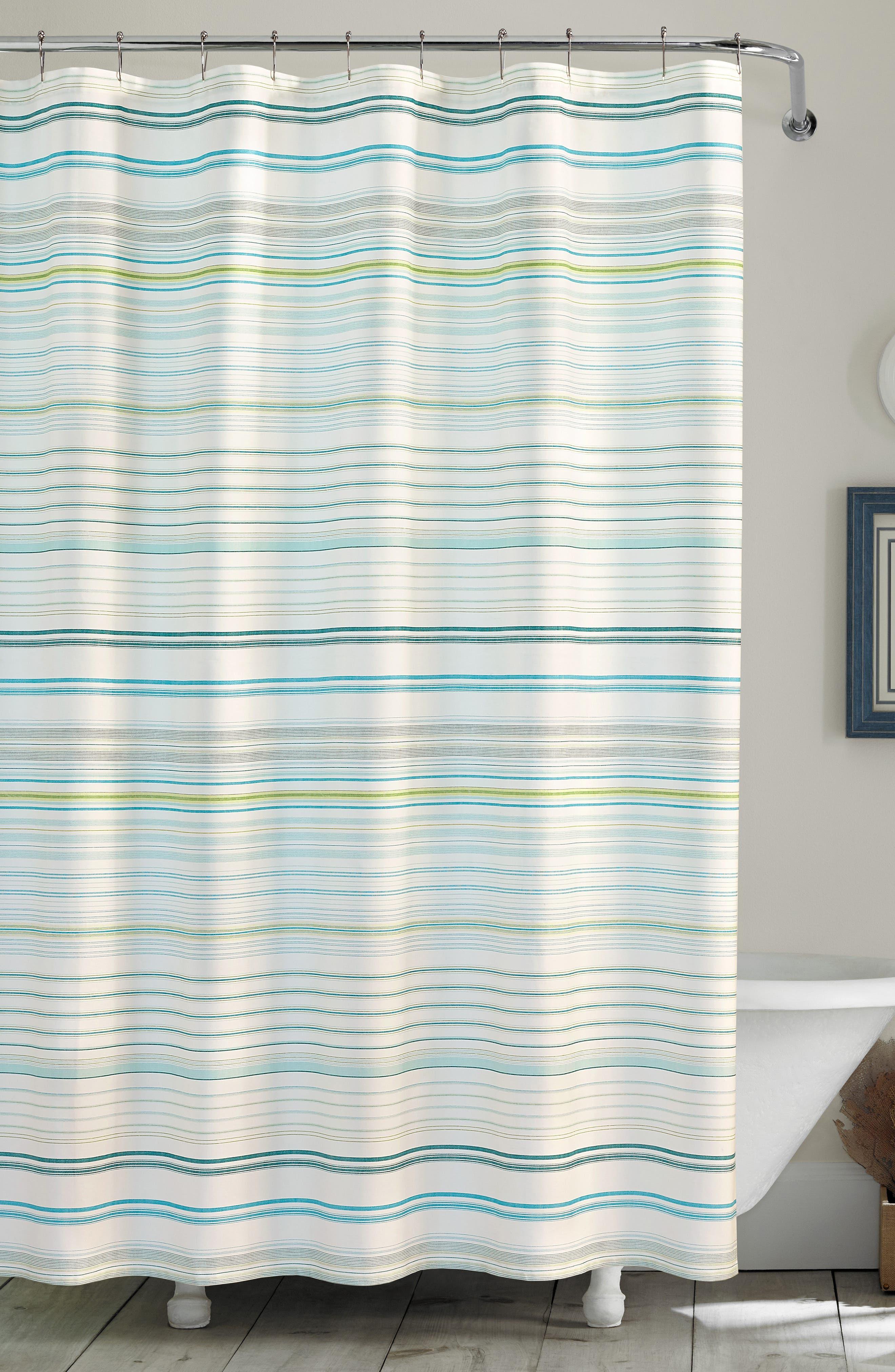 TOMMY BAHAMA La Scala Breezer Shower Curtain, Main, color, PASTEL GREEN