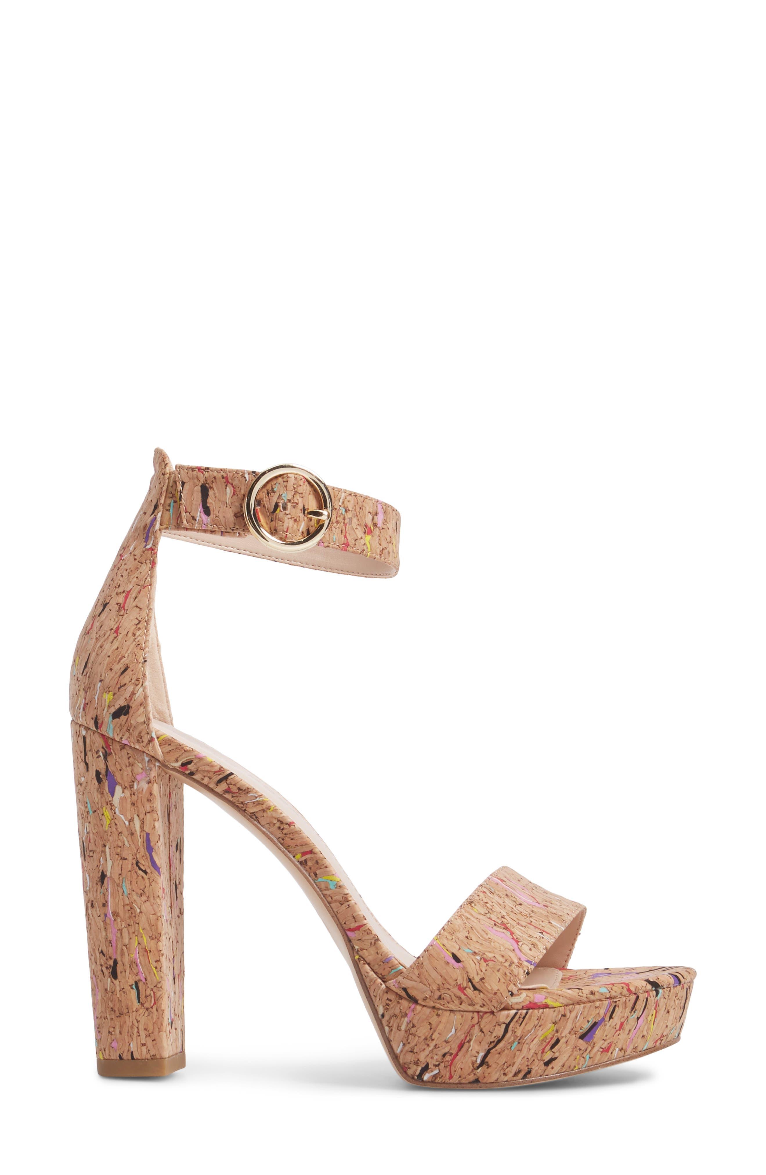 Palo 2 Platform Sandal,                             Alternate thumbnail 3, color,                             MULTI  CORK