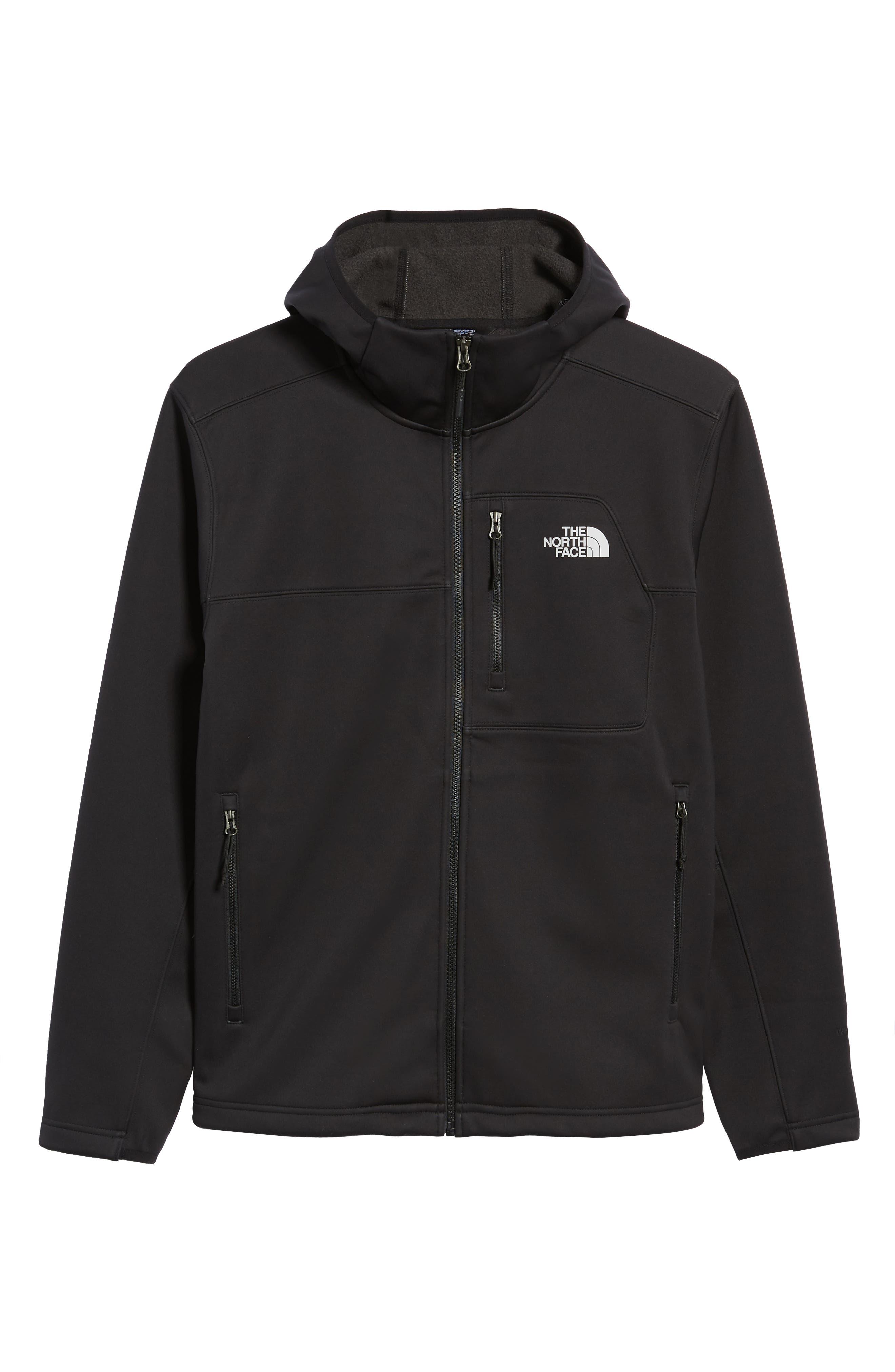 North Face Apex Risor Hooded Jacket,                             Alternate thumbnail 6, color,                             TNF BLACK/ TNF BLACK