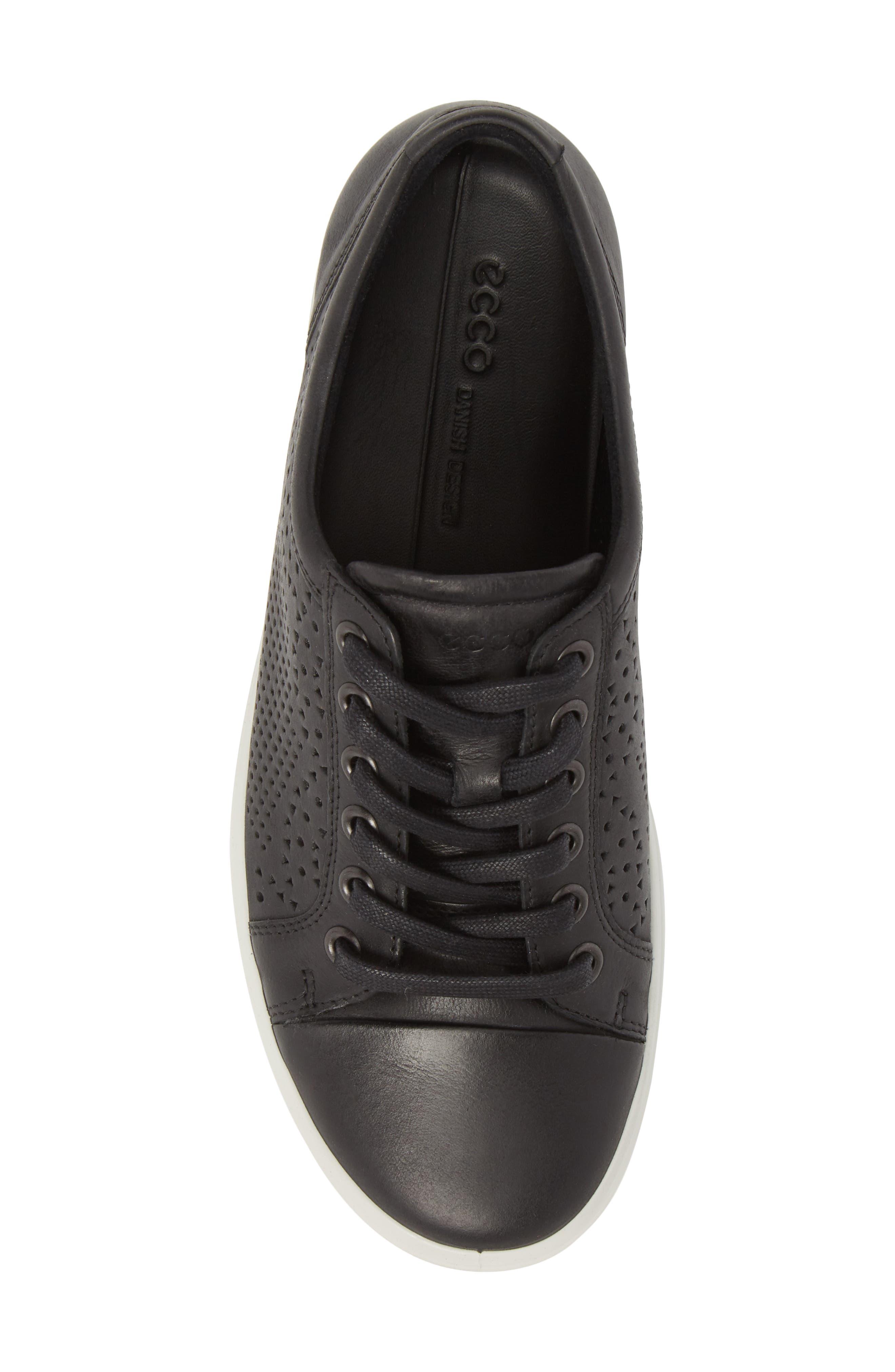Soft 7 Sneaker,                             Alternate thumbnail 5, color,                             BLACK LEATHER