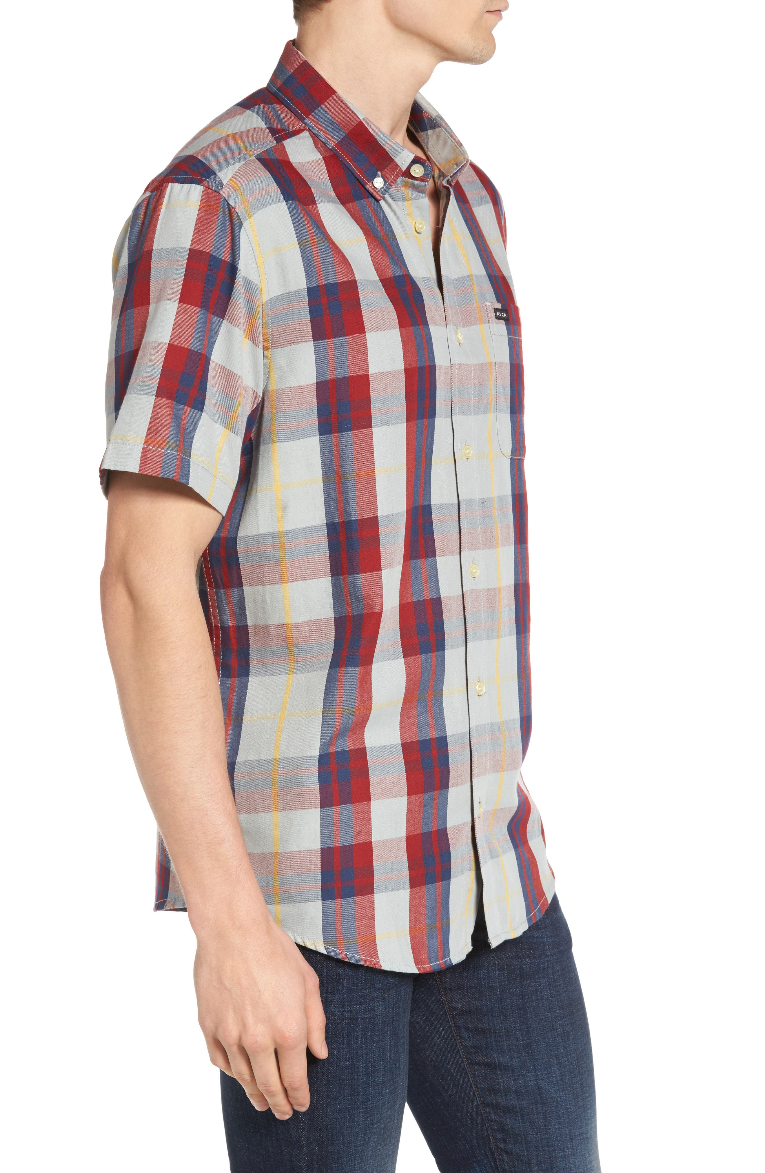 Waas 2 Plaid Woven Shirt,                             Alternate thumbnail 5, color,