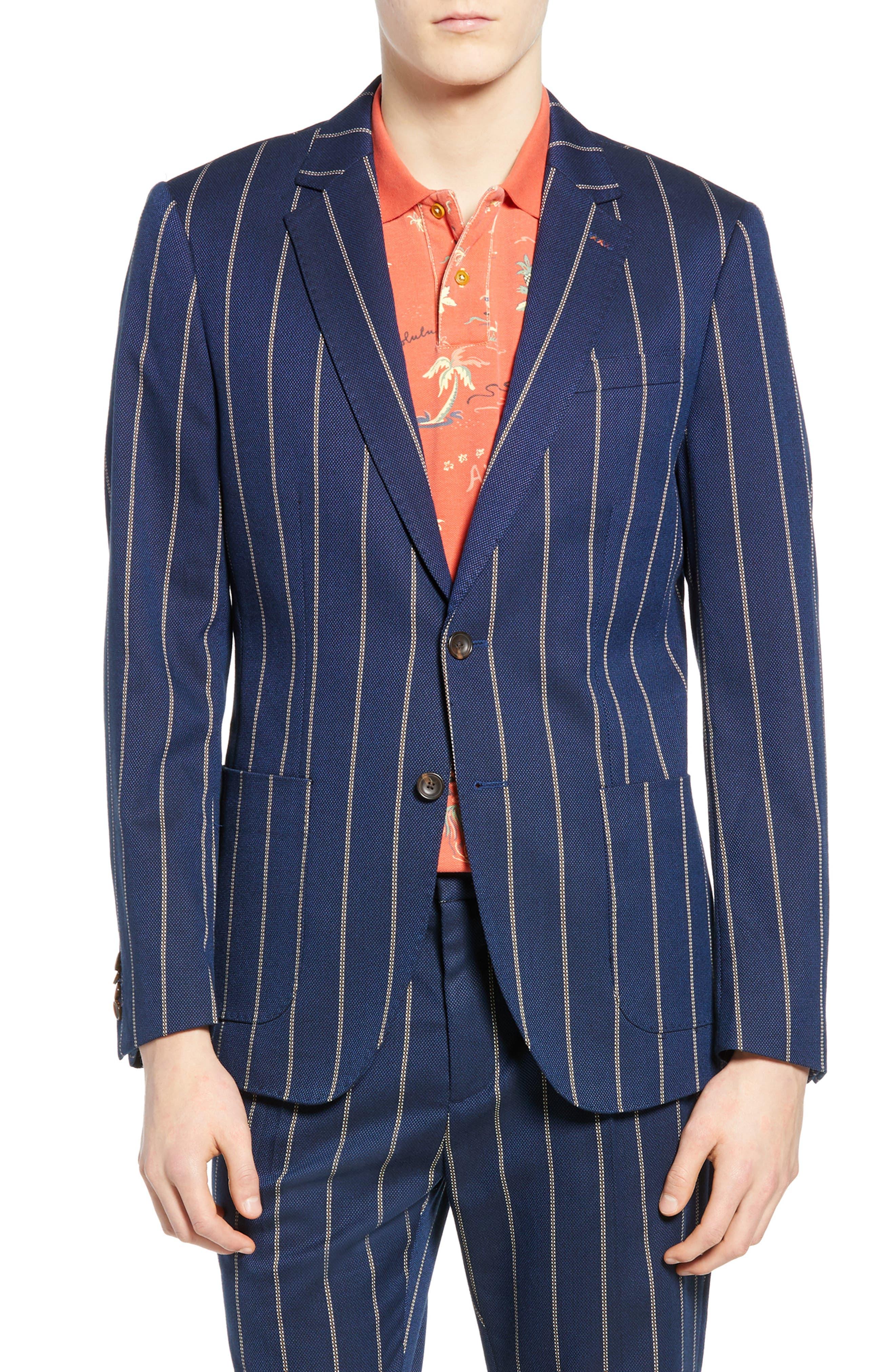 Stripe Blazer, Main, color, COMBO C