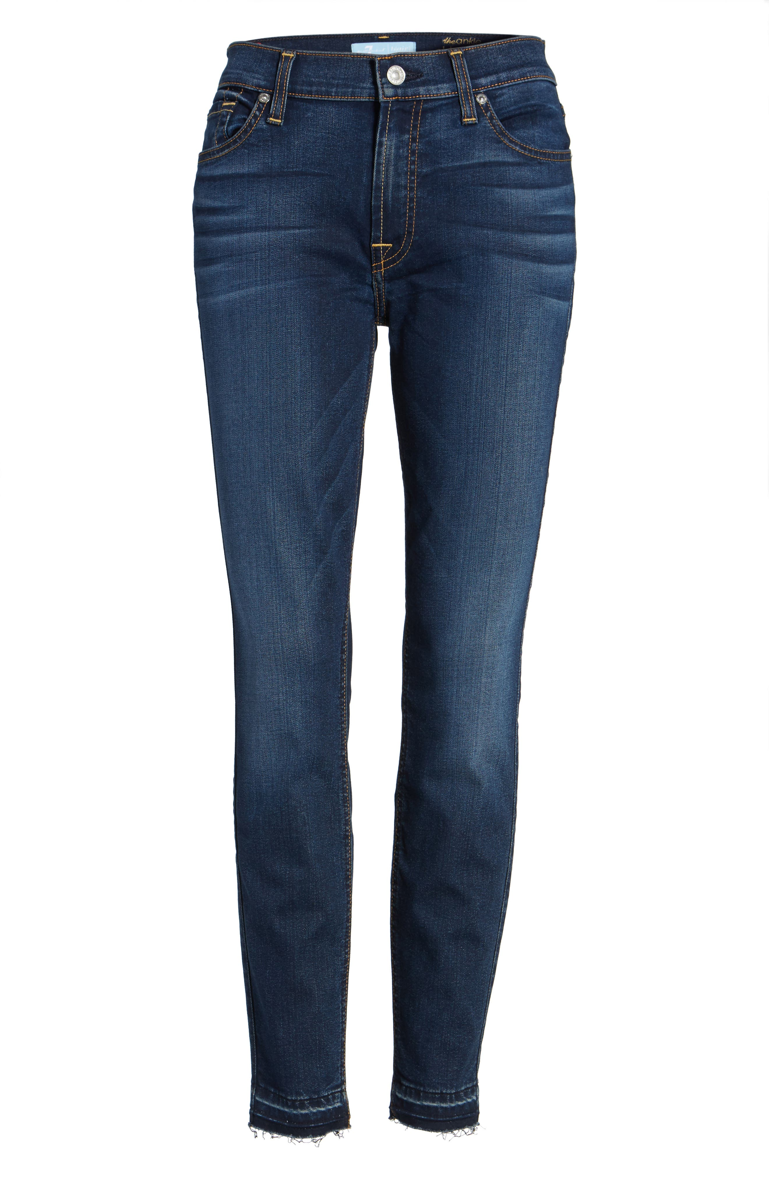 b(air) Released Hem Ankle Skinny Jeans,                             Alternate thumbnail 7, color,                             400