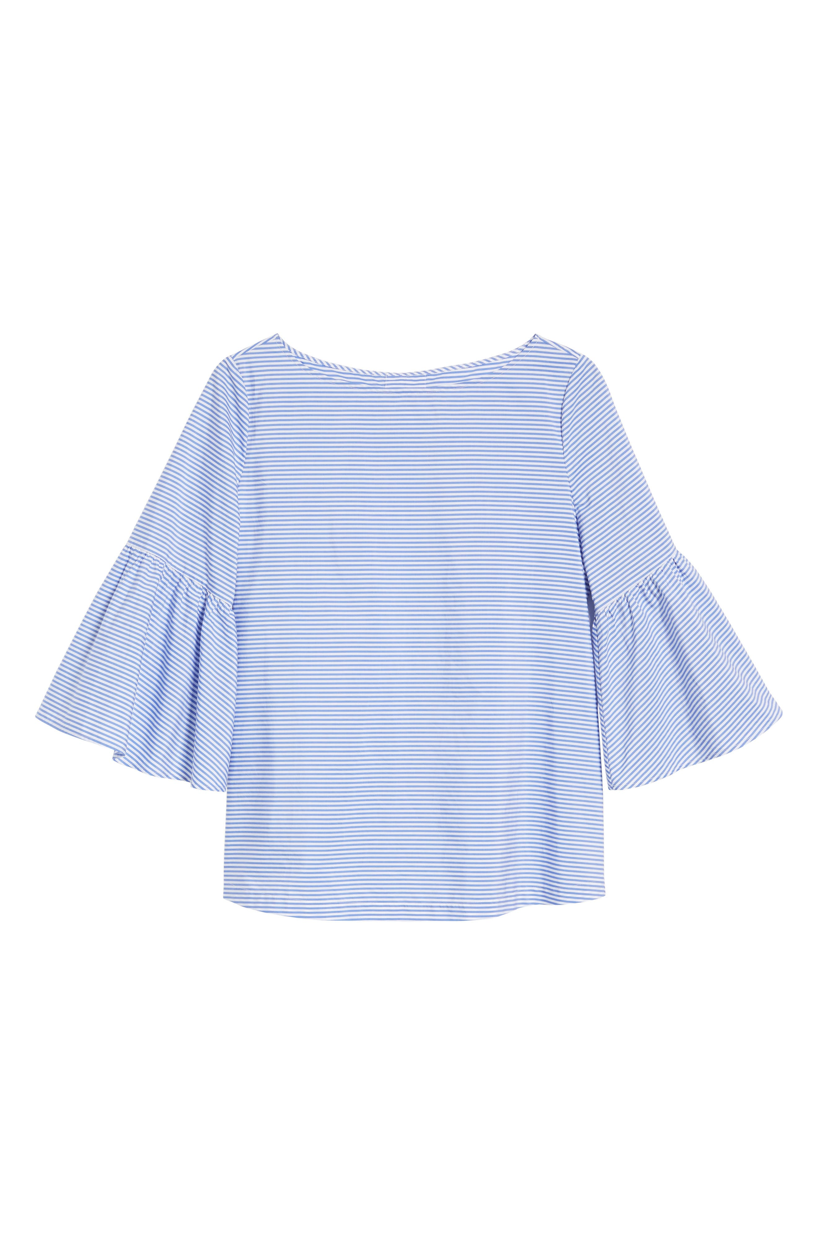 Bell Sleeve Bow Back Top,                             Alternate thumbnail 6, color,                             420