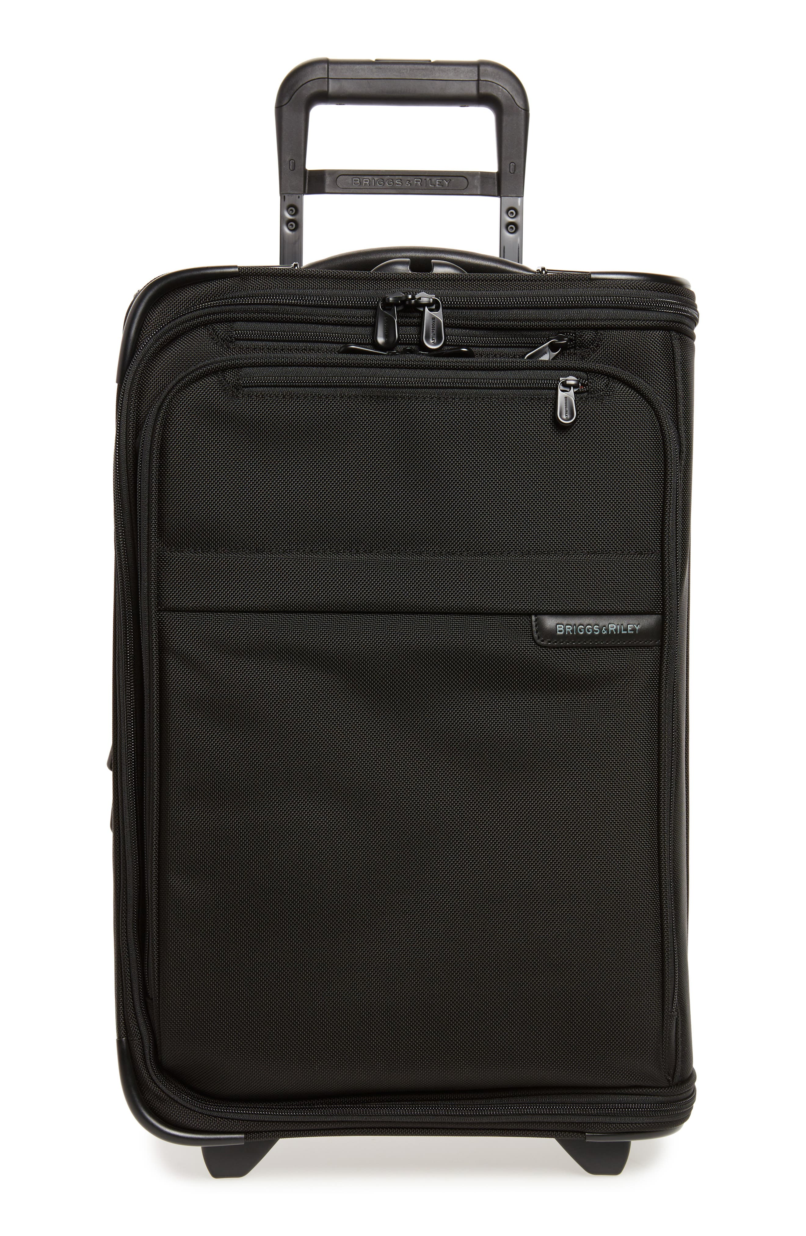 'Baseline - Domestic' Rolling Carry-On Garment Bag,                             Main thumbnail 1, color,                             BLACK