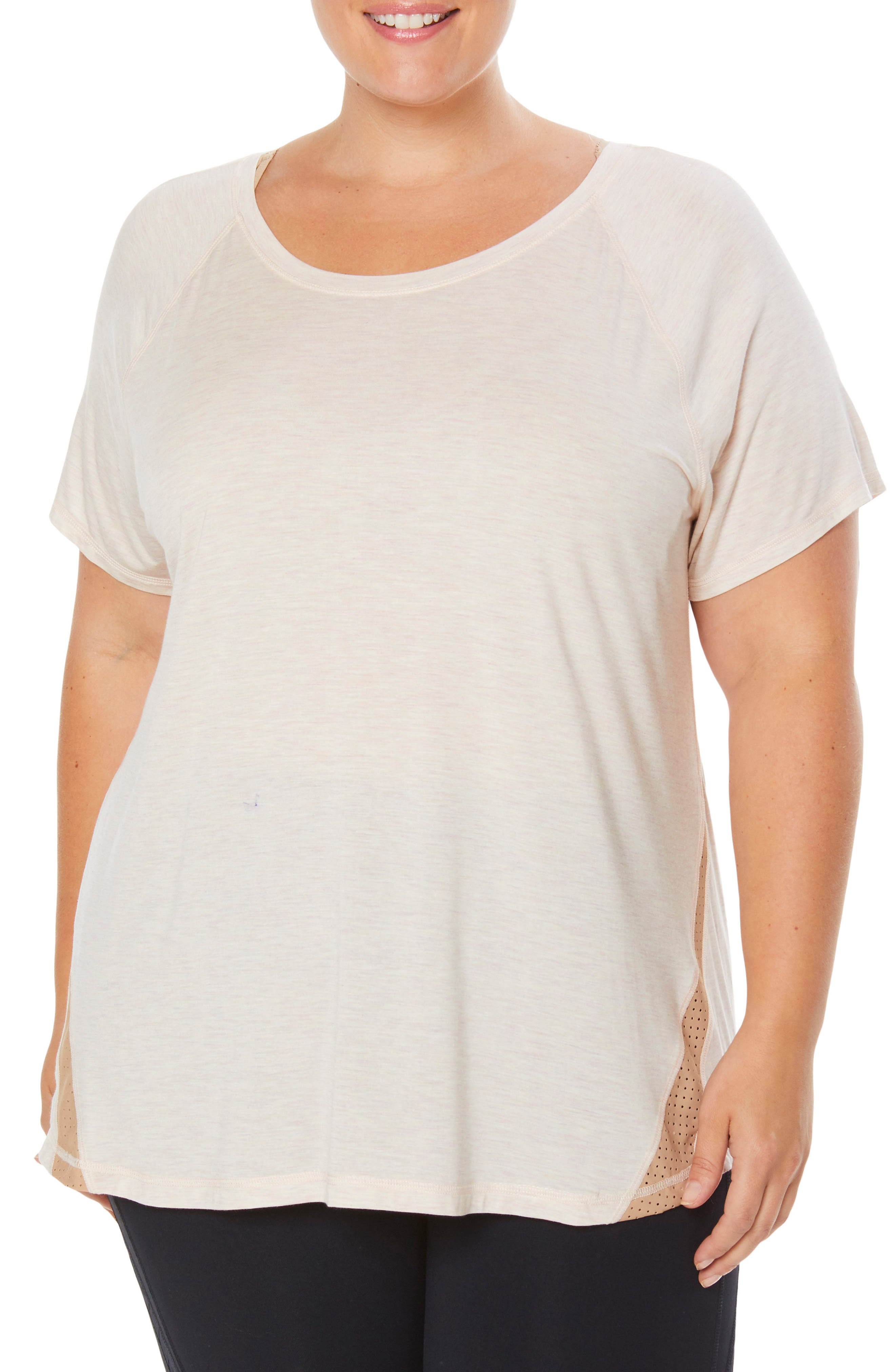 G-Force Tee,                         Main,                         color, PALE PINK / WARM TAUPE