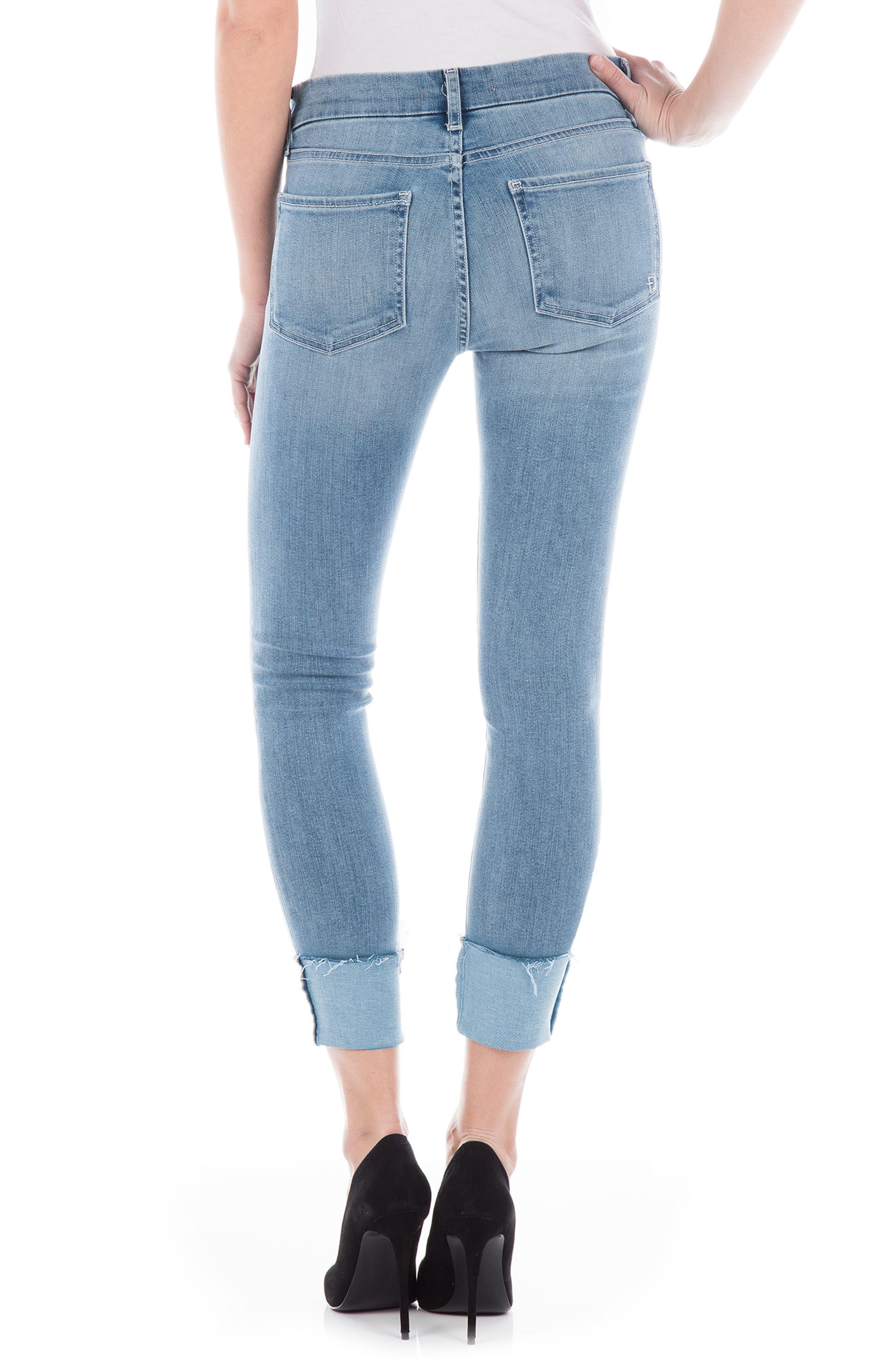 Stevie Crop Slim Straight Leg Jeans,                             Alternate thumbnail 2, color,                             VENICE BLUE