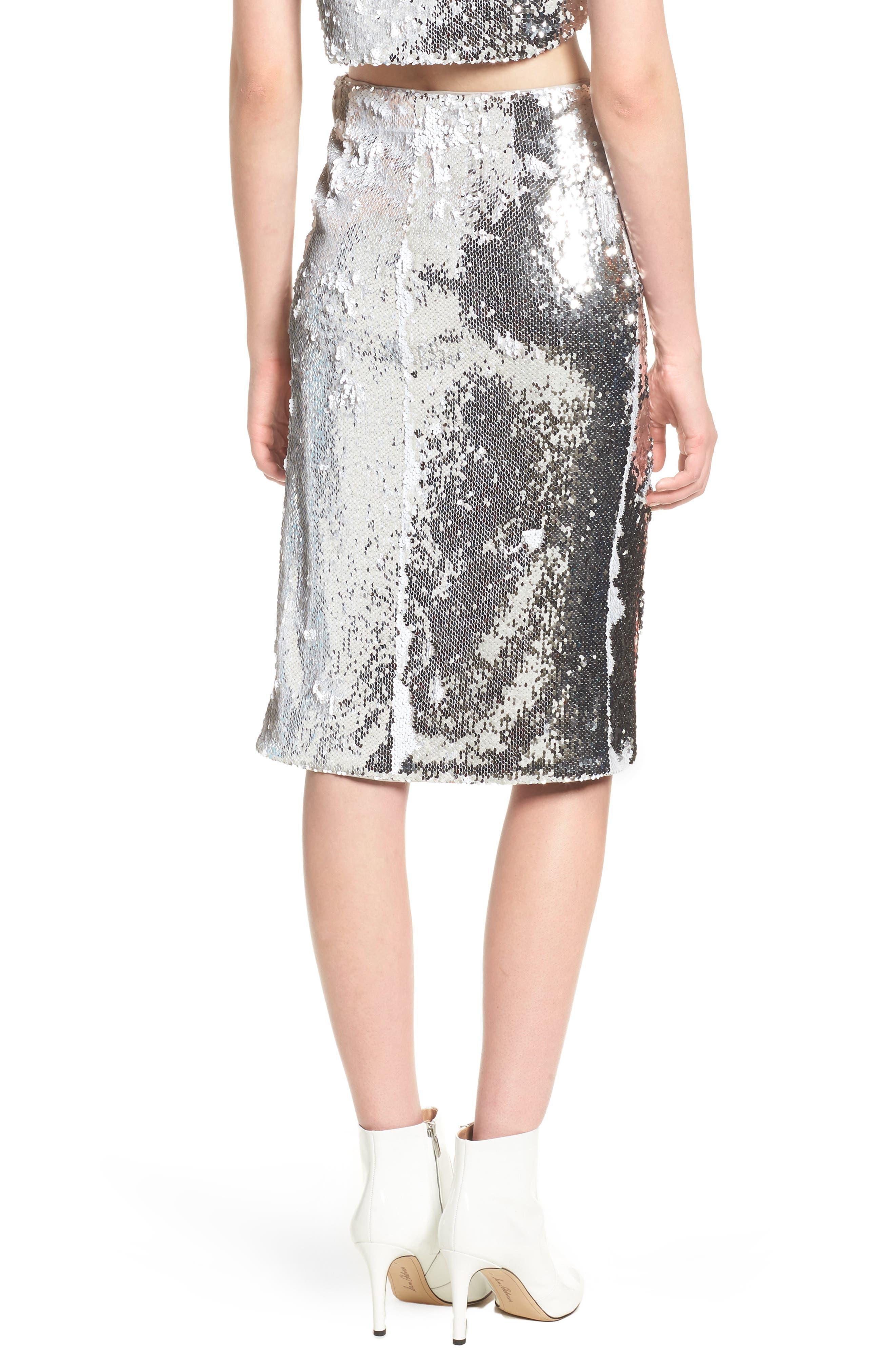 Liana Sequin Skirt,                             Alternate thumbnail 2, color,