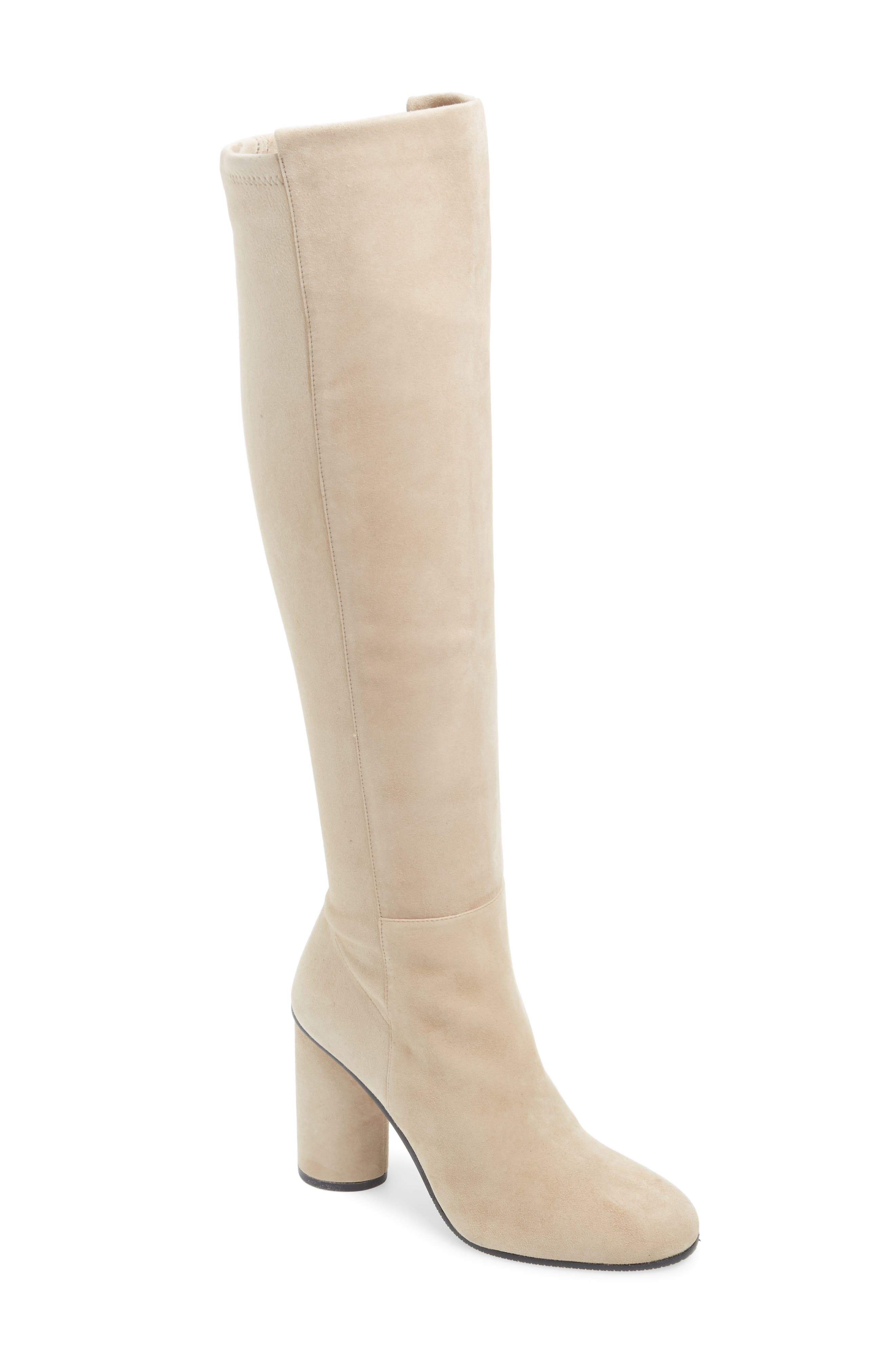Eloise Over the Knee Boot,                             Main thumbnail 1, color,                             BROWNSTONE SUEDE