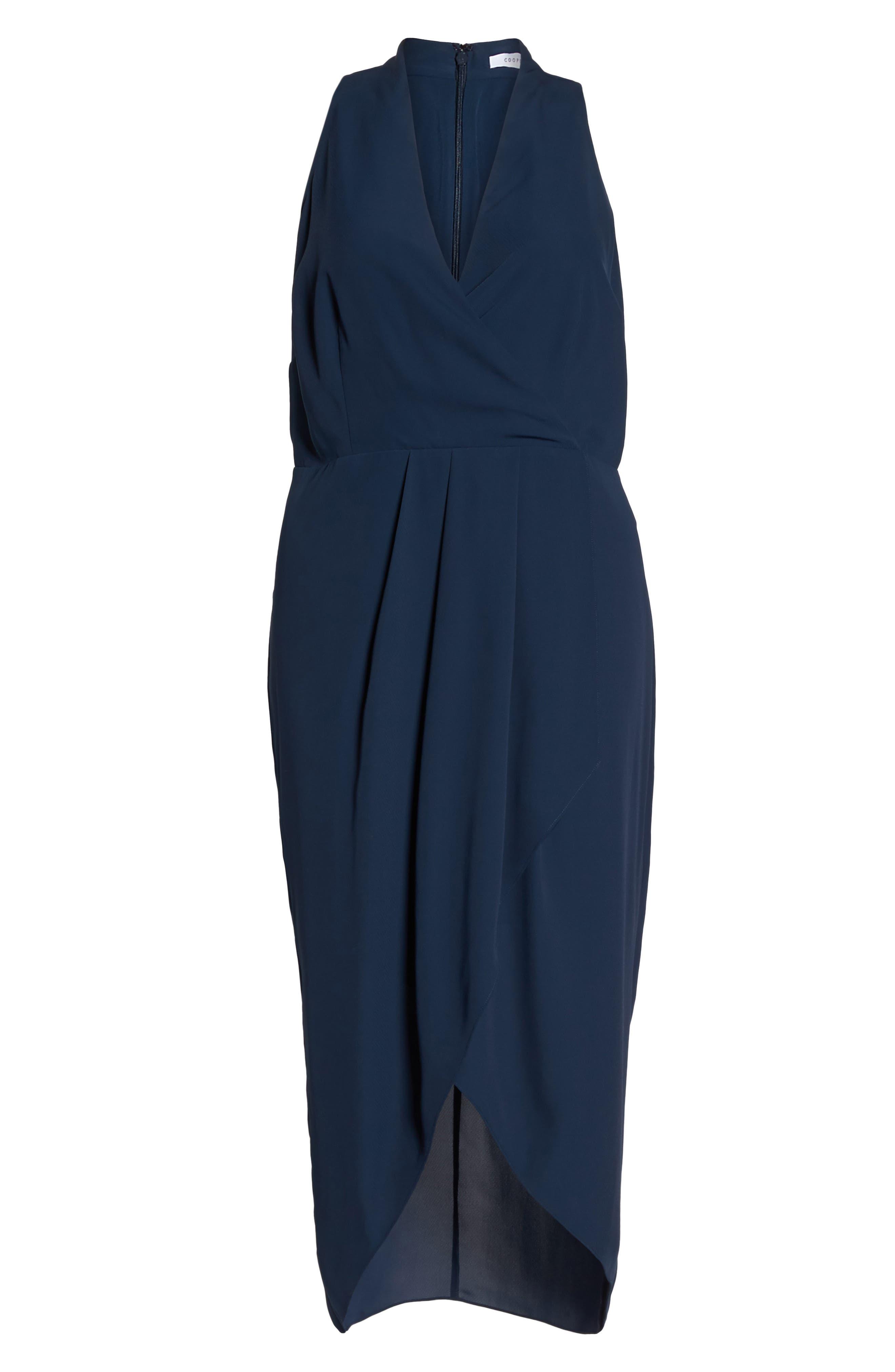 Evening Light Drape Dress,                             Alternate thumbnail 6, color,                             400