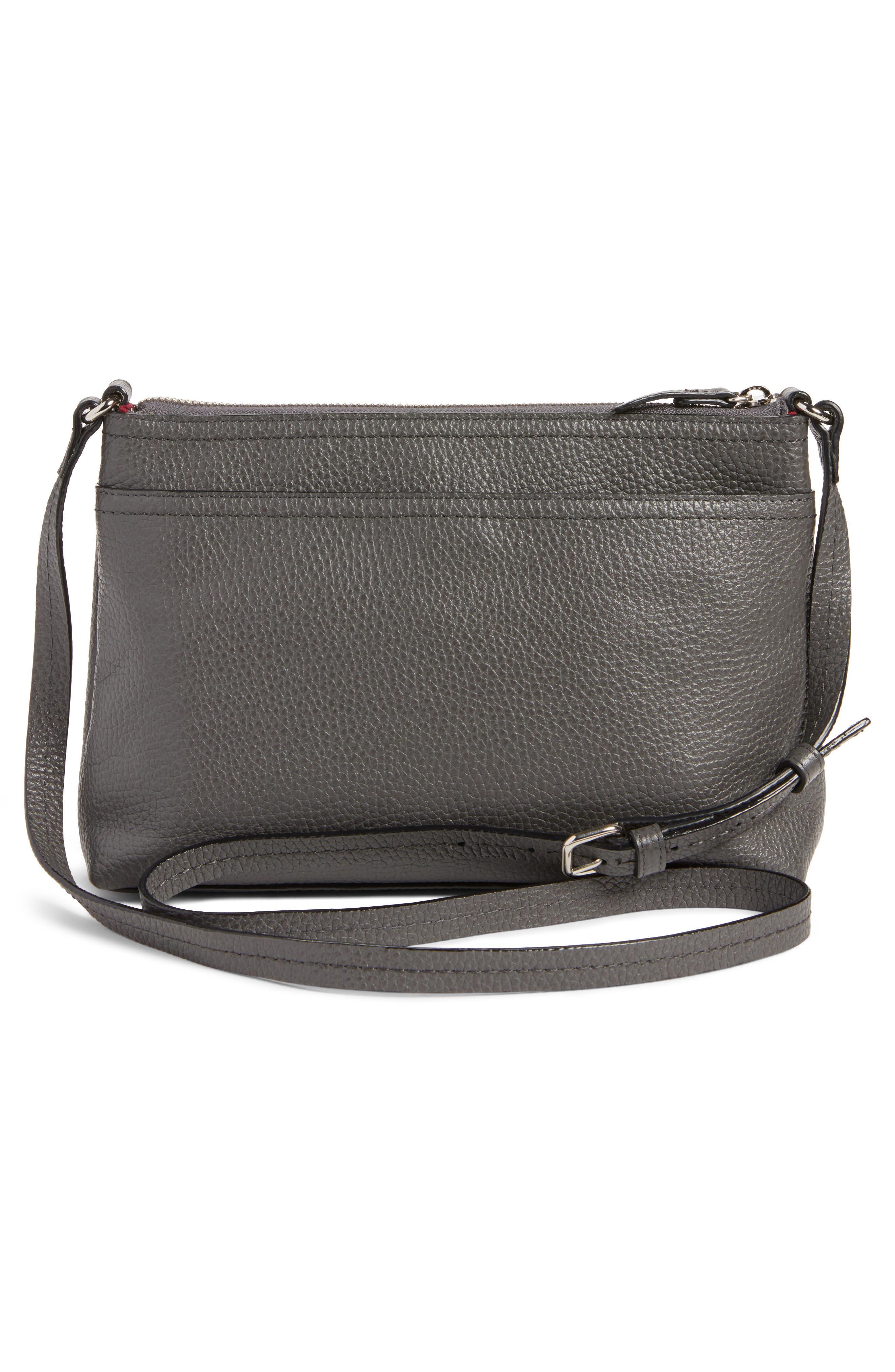 Pebbled Leather Crossbody Bag,                             Alternate thumbnail 10, color,