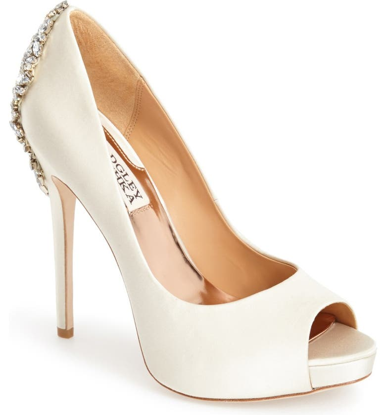 Places to buy  Badgley Mischka Kiara Crystal Back Open Toe Pump (Women) Affordable