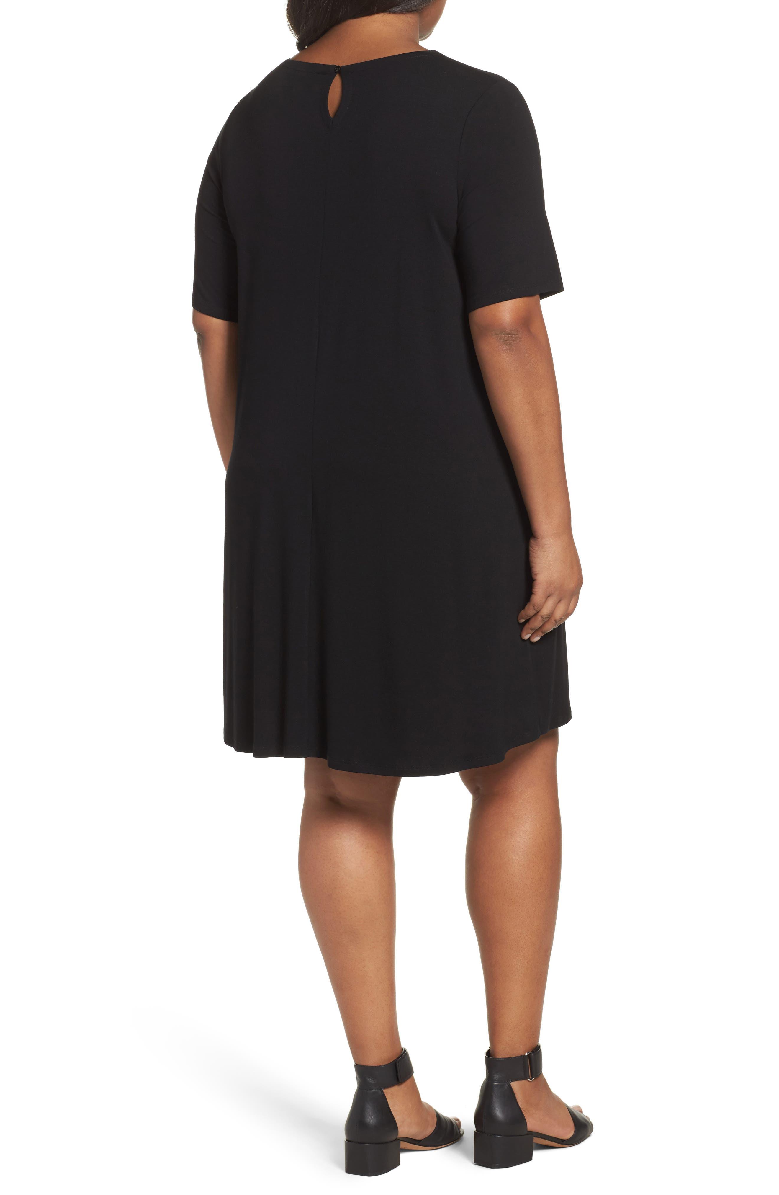 Stretch Jersey Shift Dress,                             Alternate thumbnail 5, color,