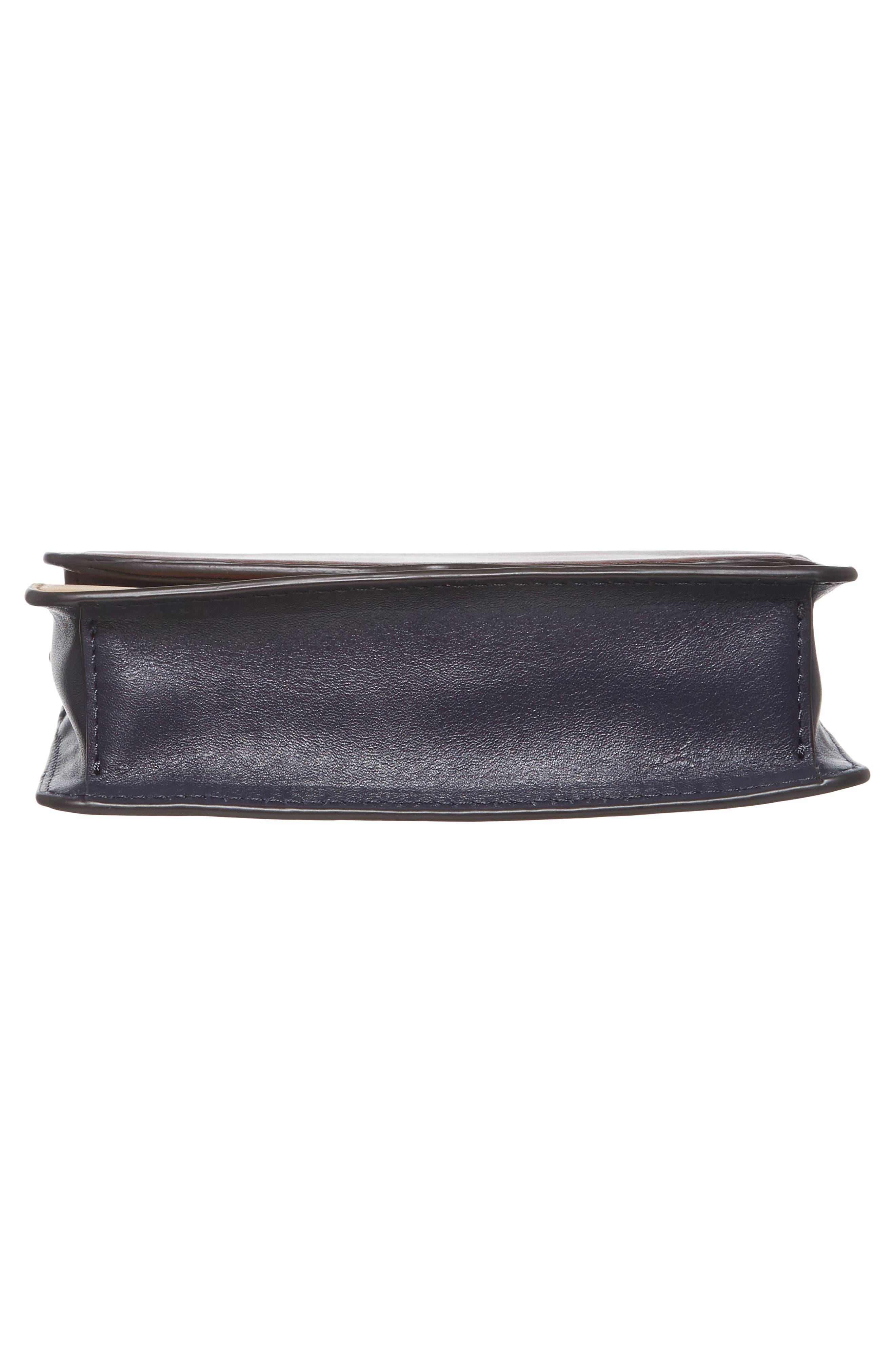 Mini Chain Leather Crossbody Bag,                             Alternate thumbnail 6, color,                             600