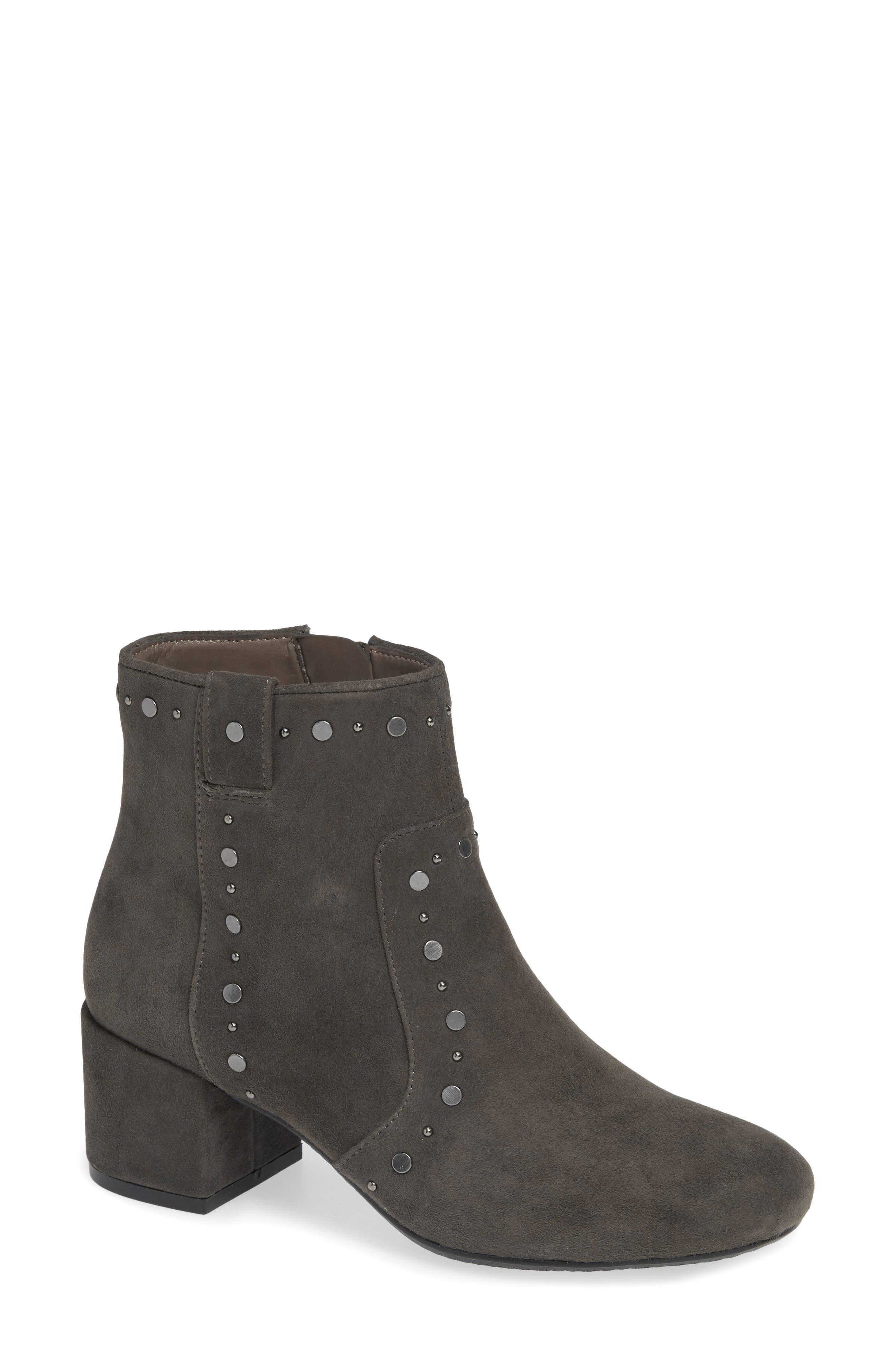 Don Bootie,                             Main thumbnail 1, color,                             CHARCOAL SUEDE