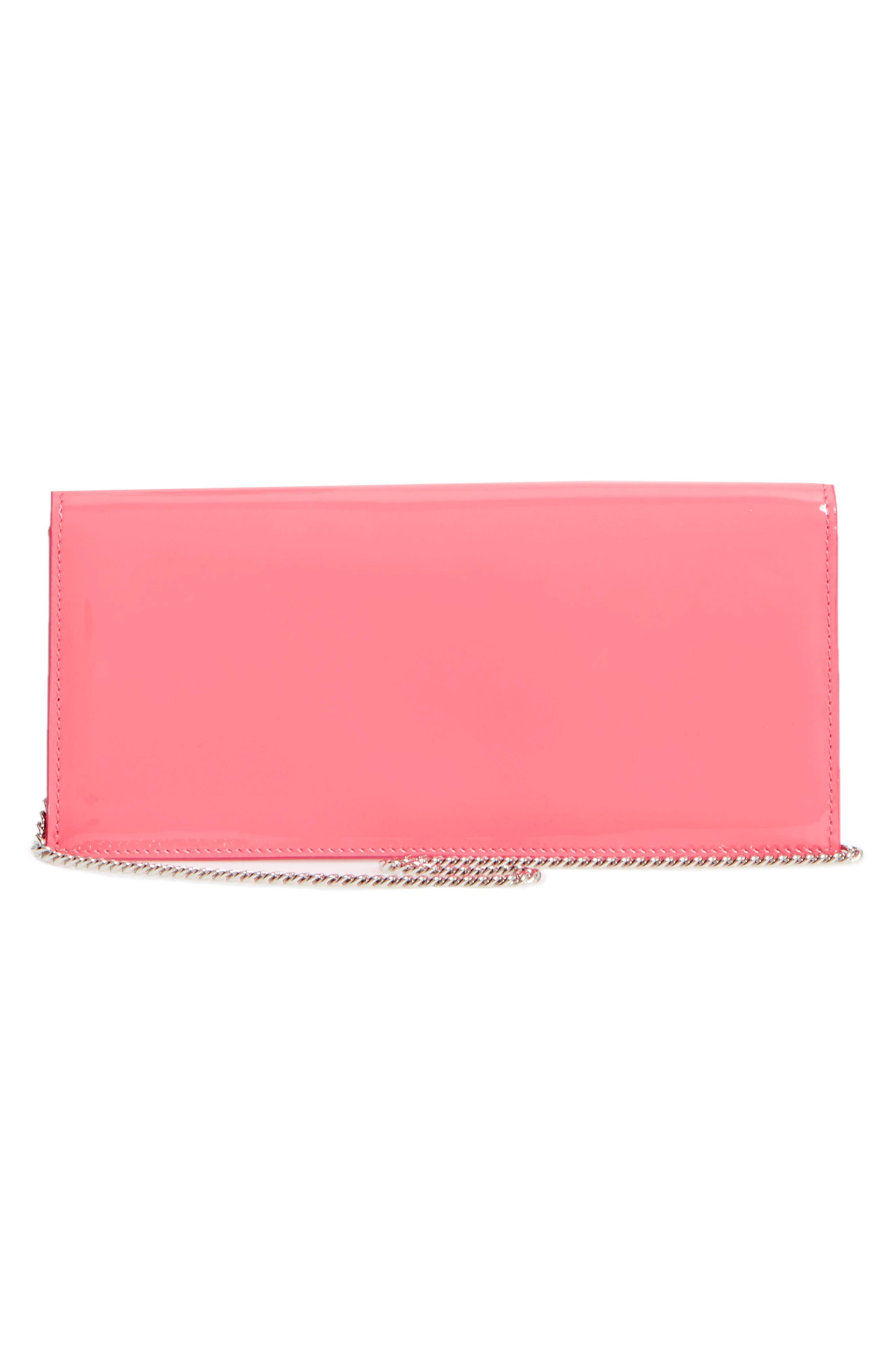 Fie Suede & Patent Leather Clutch,                             Alternate thumbnail 3, color,                             650