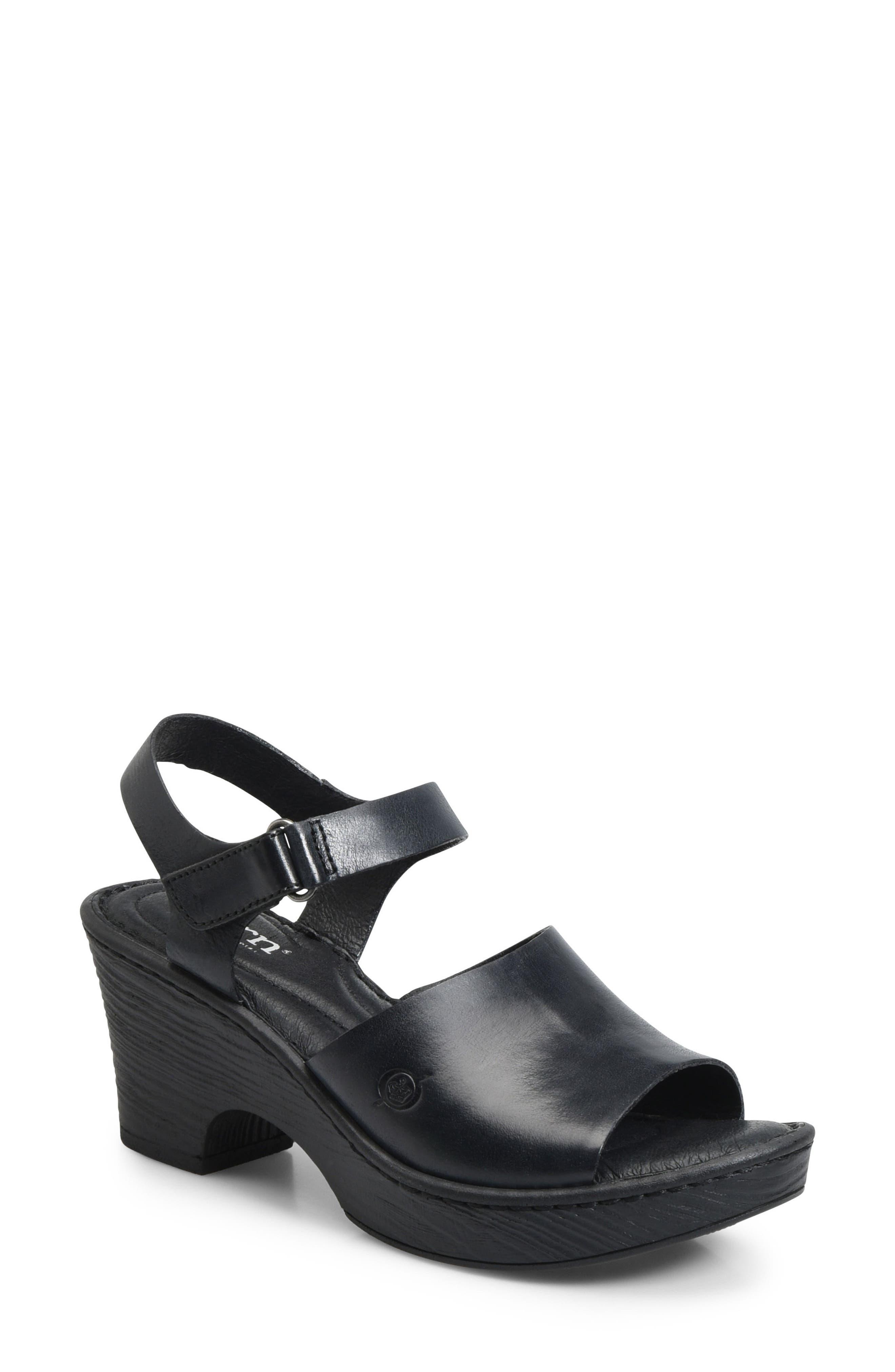 Canna Platform Sandal,                         Main,                         color, 001