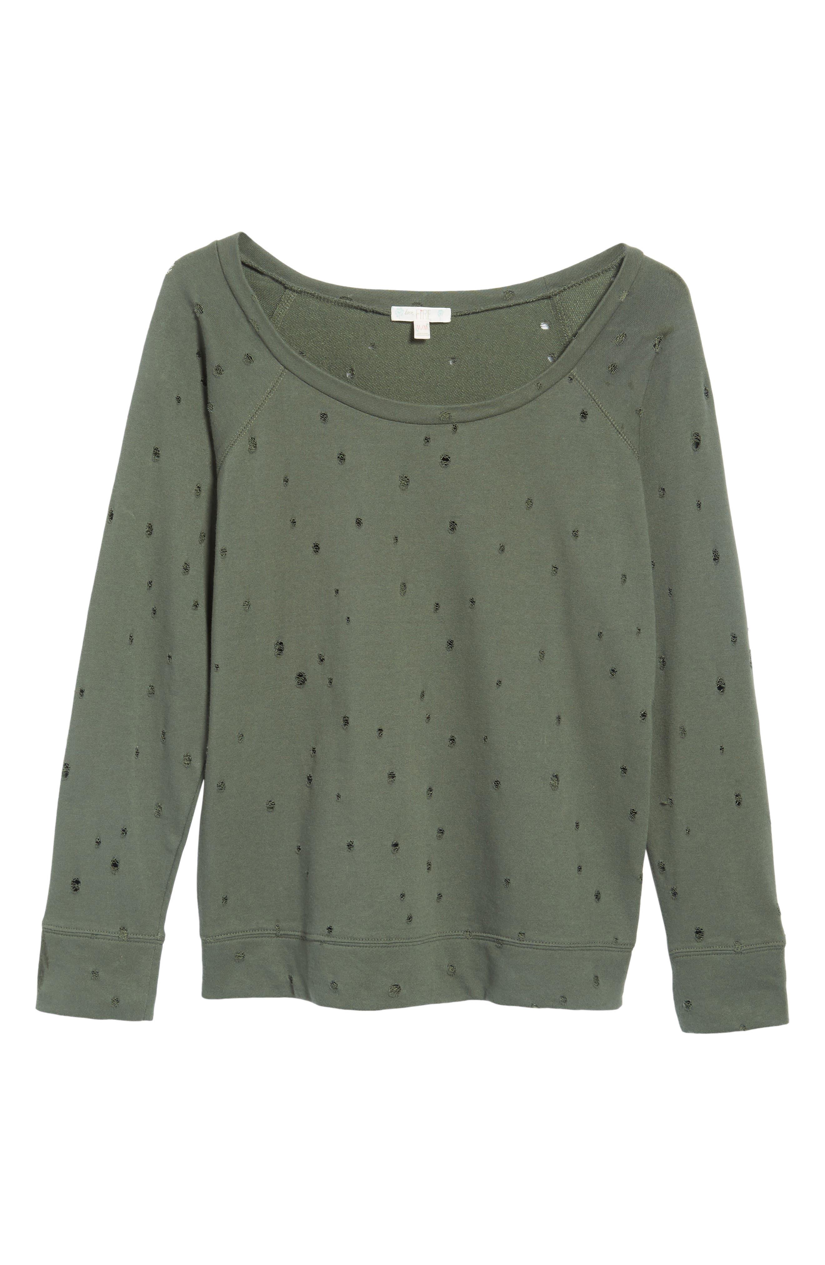 Holey Sweatshirt,                             Alternate thumbnail 12, color,