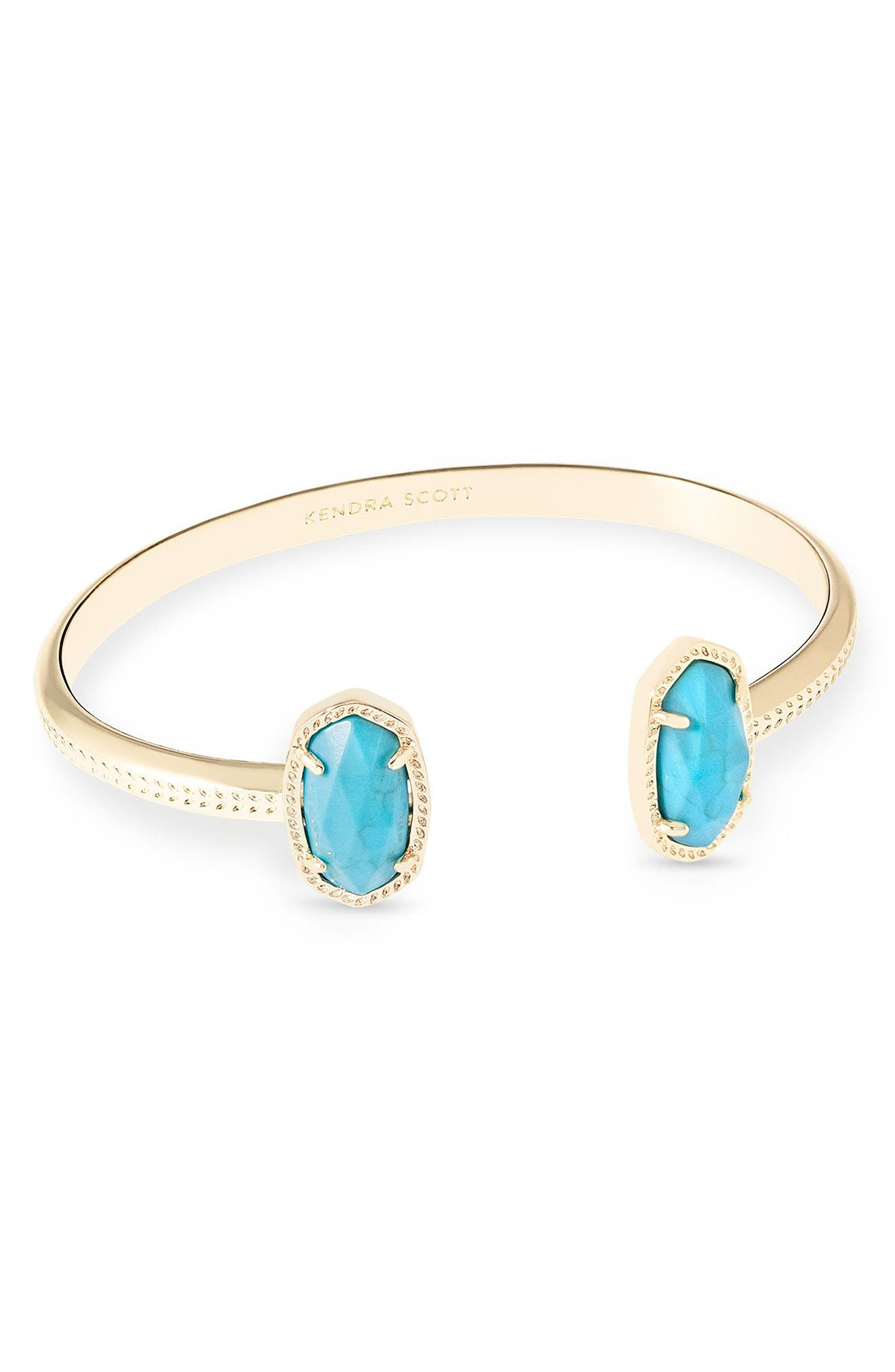 Elton Station Cuff Bracelet,                             Alternate thumbnail 2, color,                             TURQUOISE MAGNESITE