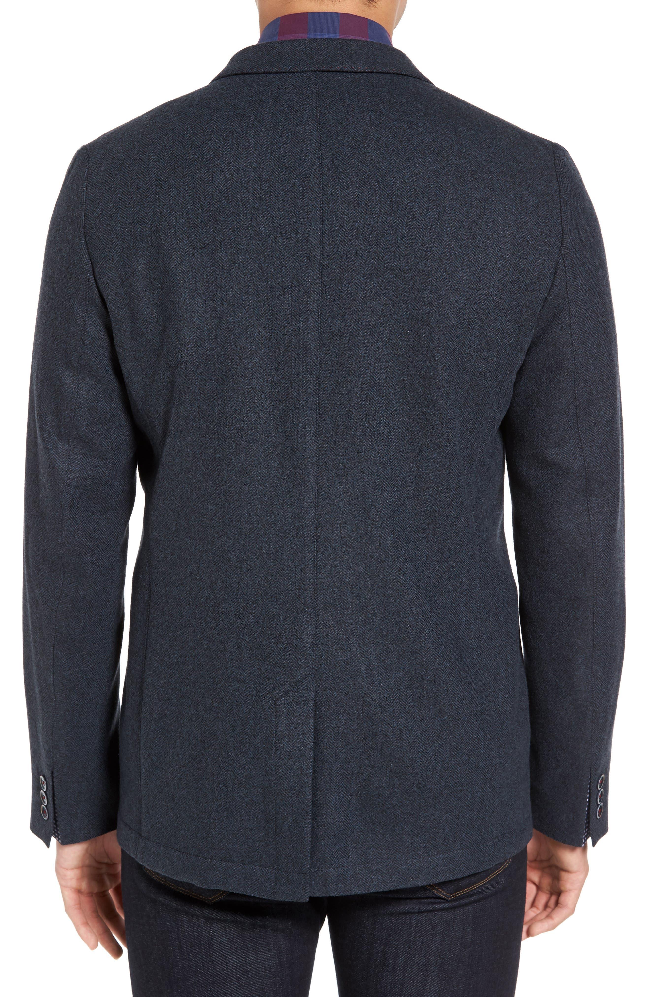 Porter Herringbone Wool Blend Jacket,                             Alternate thumbnail 2, color,                             410