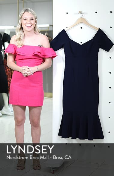 Dream Crepe Off the Shoulder Midi Dress, sales video thumbnail