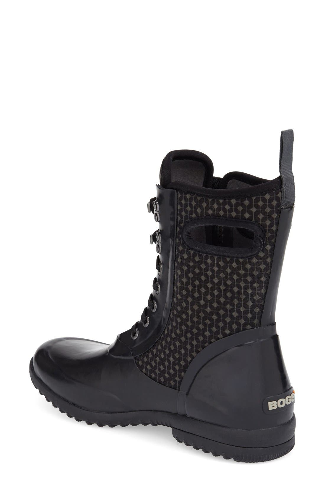 'Sidney Cravat' Lace-Up Waterproof Boot,                             Alternate thumbnail 2, color,                             009