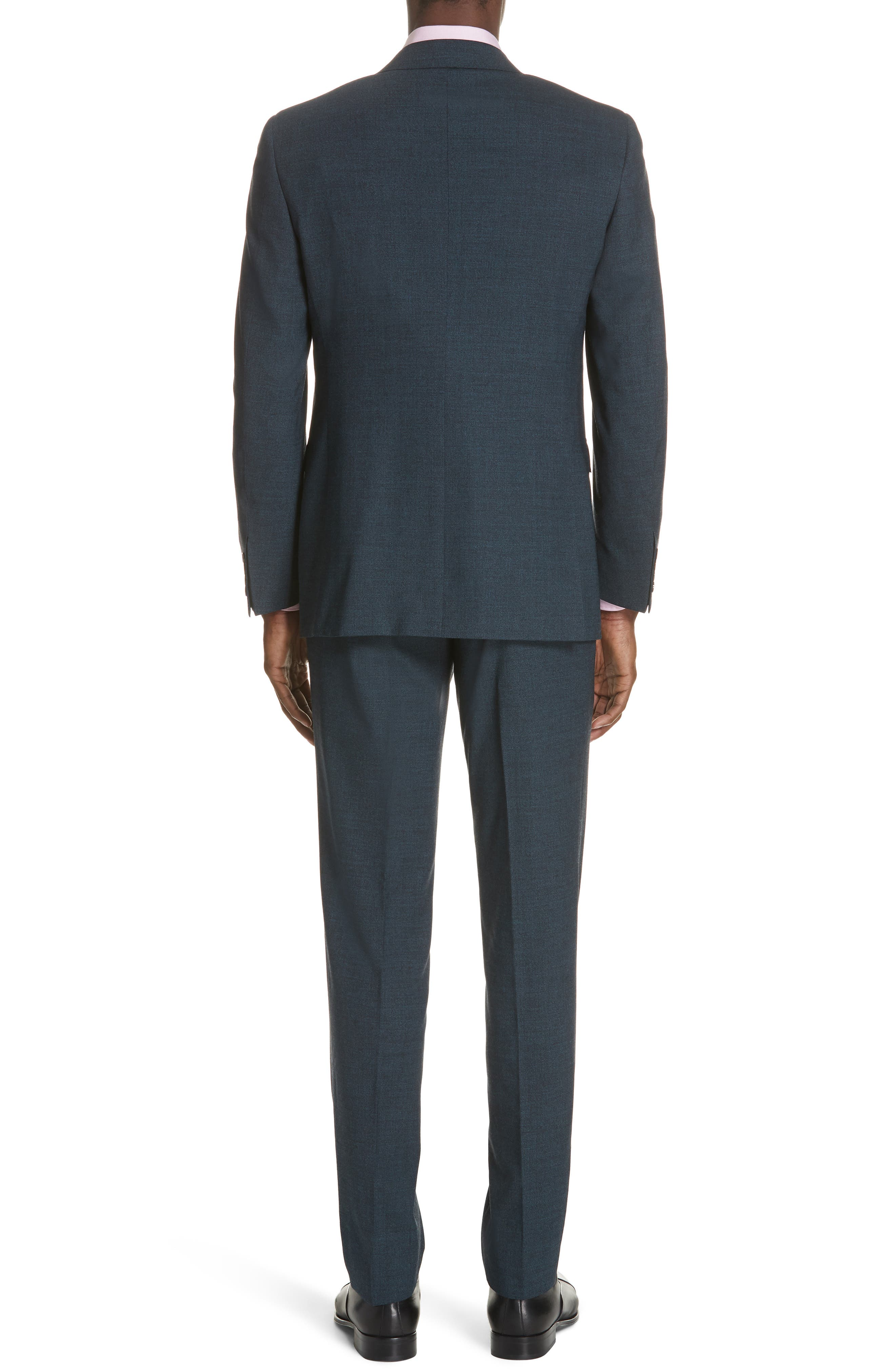CANALI,                             Classic Fit Stretch Solid Wool Suit,                             Alternate thumbnail 2, color,                             400
