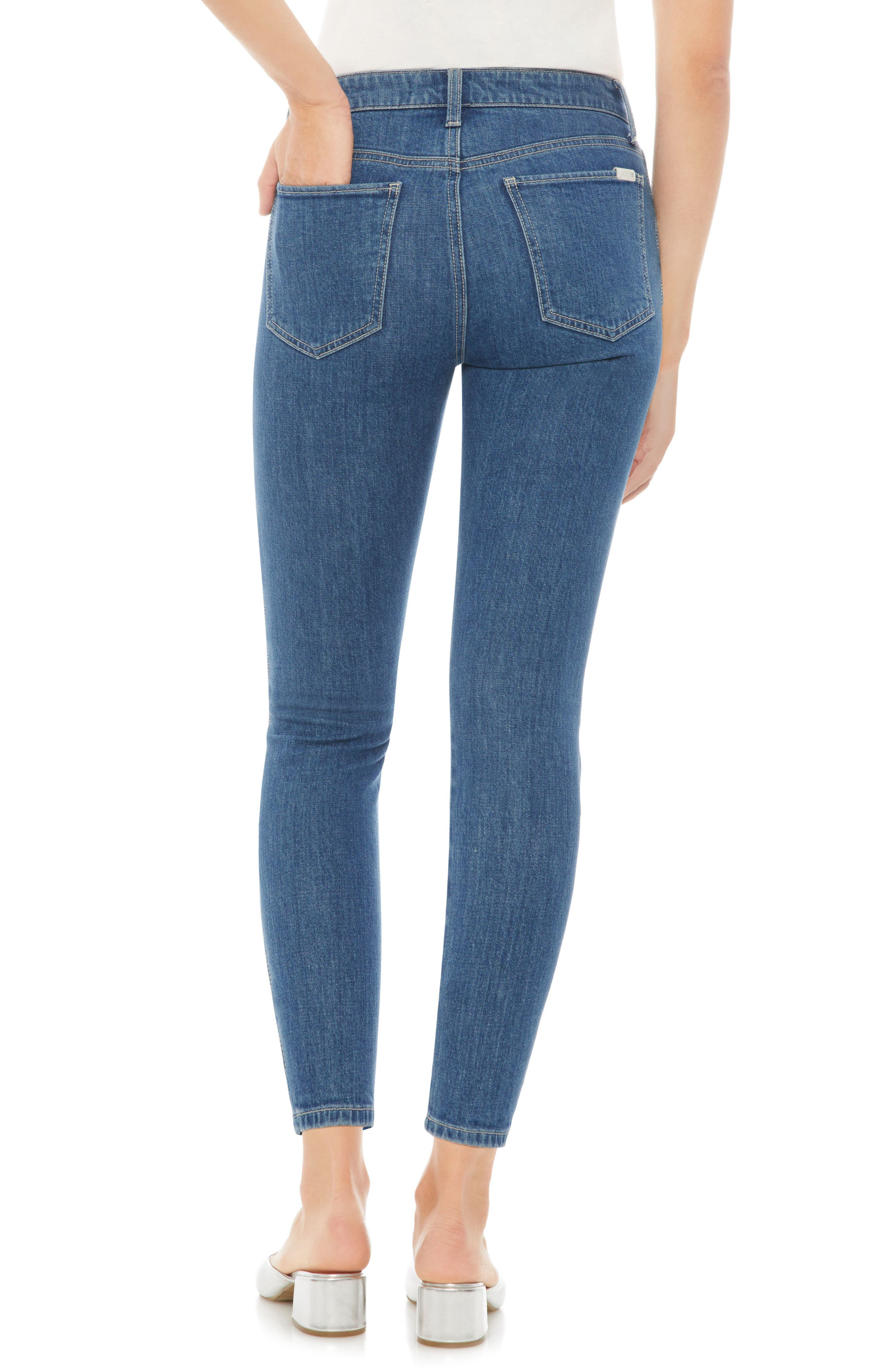 Charlie High Waist Crop Skinny Jeans,                             Alternate thumbnail 2, color,                             DOLLIE