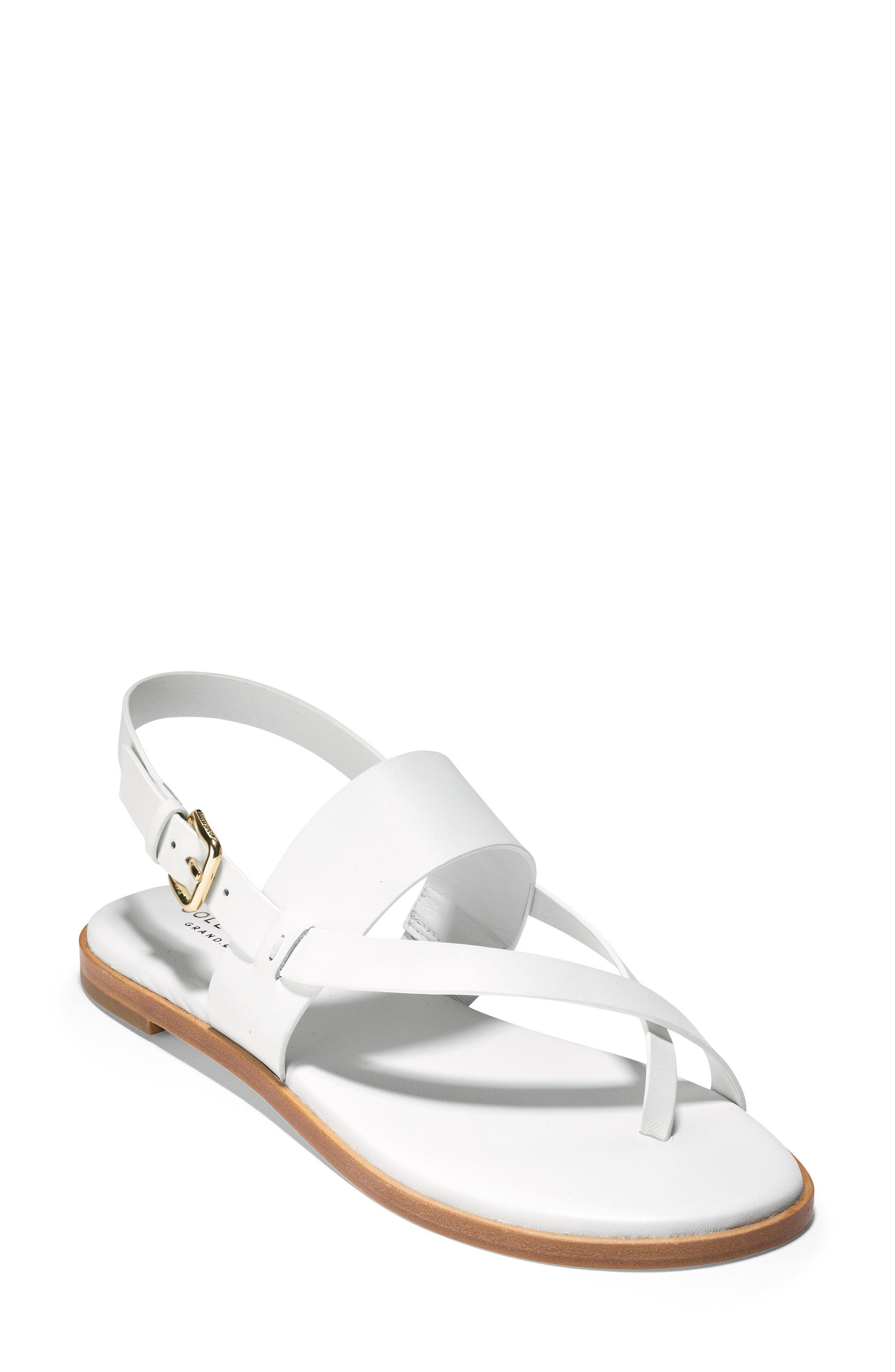 Anica Sandal,                         Main,                         color, WHITE LEATHER