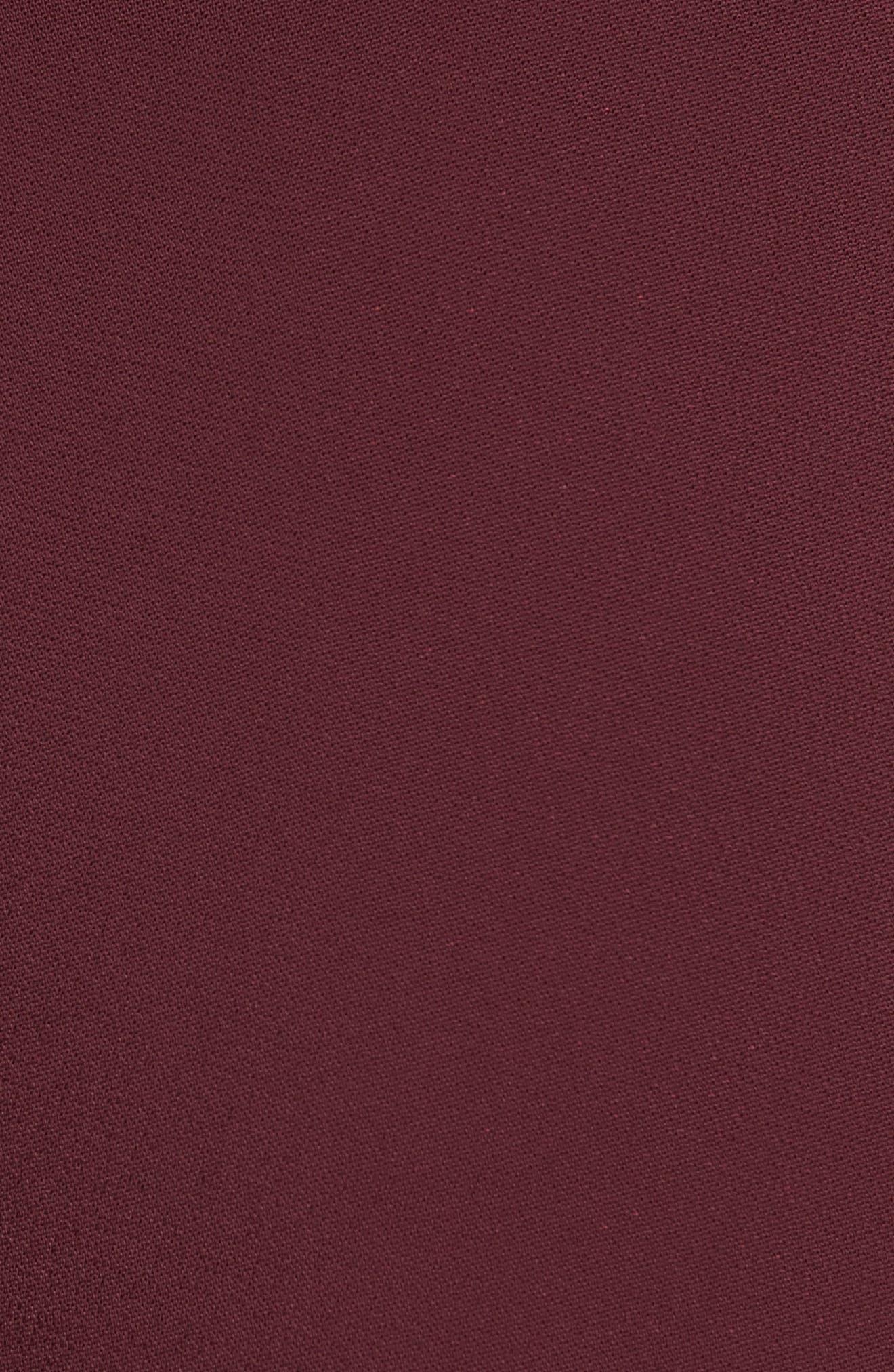 TIBI,                             Stella Stretch Suiting Crop Pants,                             Alternate thumbnail 6, color,                             DARK CURRANT