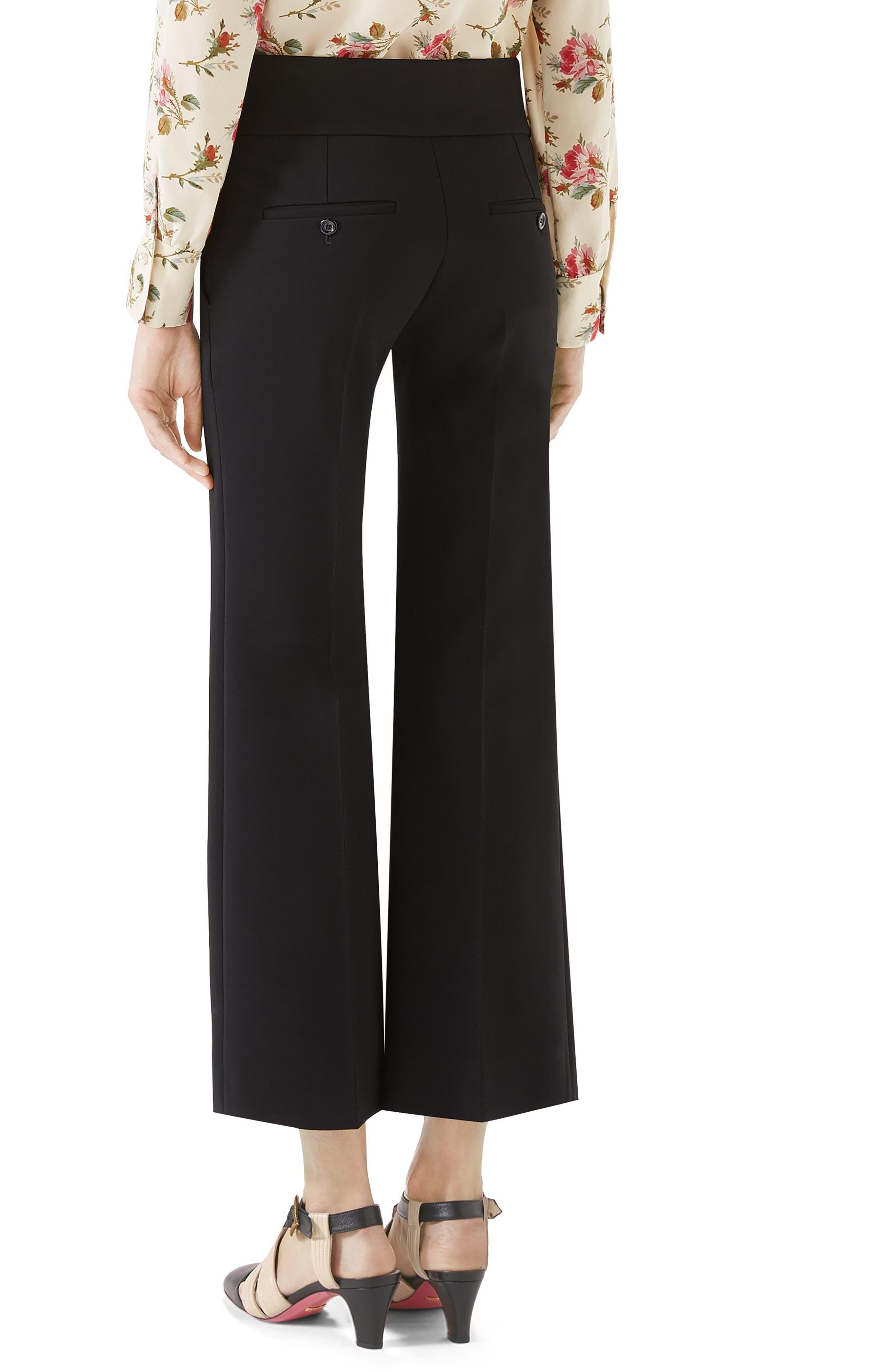 Marmont Stretch Jersey Crop Pants,                             Alternate thumbnail 2, color,                             BLACK