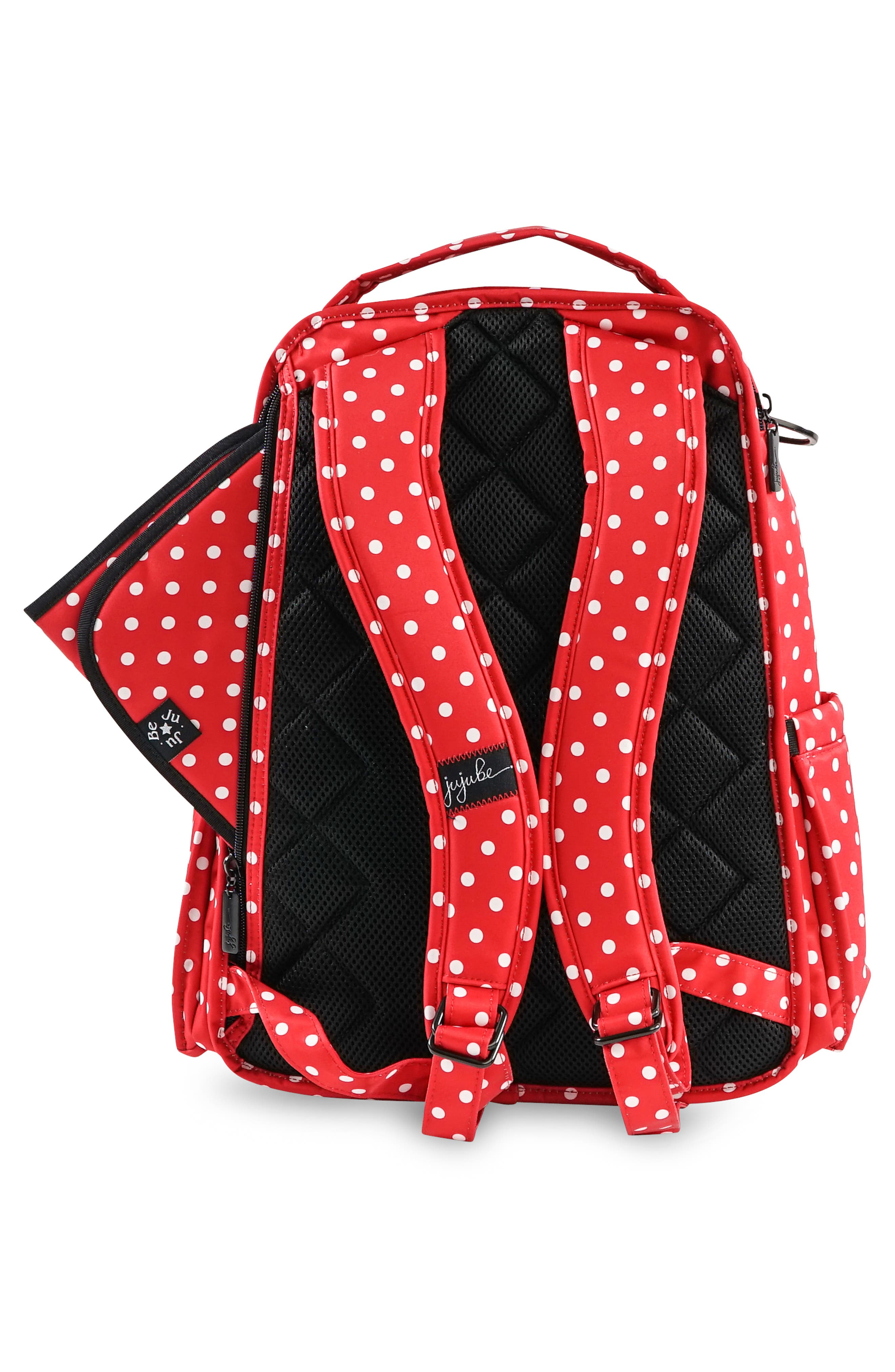 'Be Right Back - Onyx Collection' Diaper Backpack,                             Alternate thumbnail 2, color,                             BLACK RUBY
