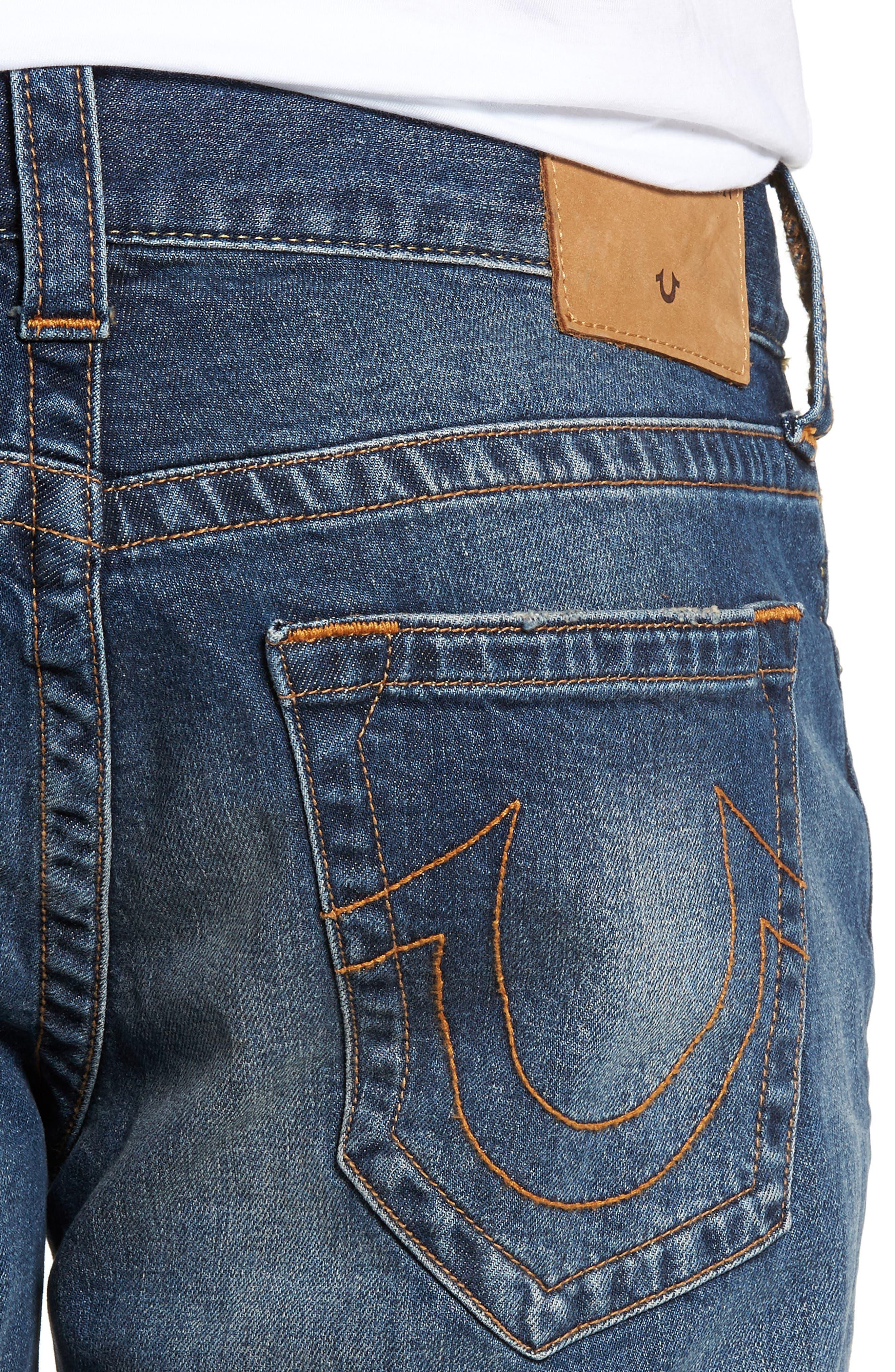 Geno Slim Straight Leg Jeans,                             Alternate thumbnail 4, color,                             JETSET BLUE
