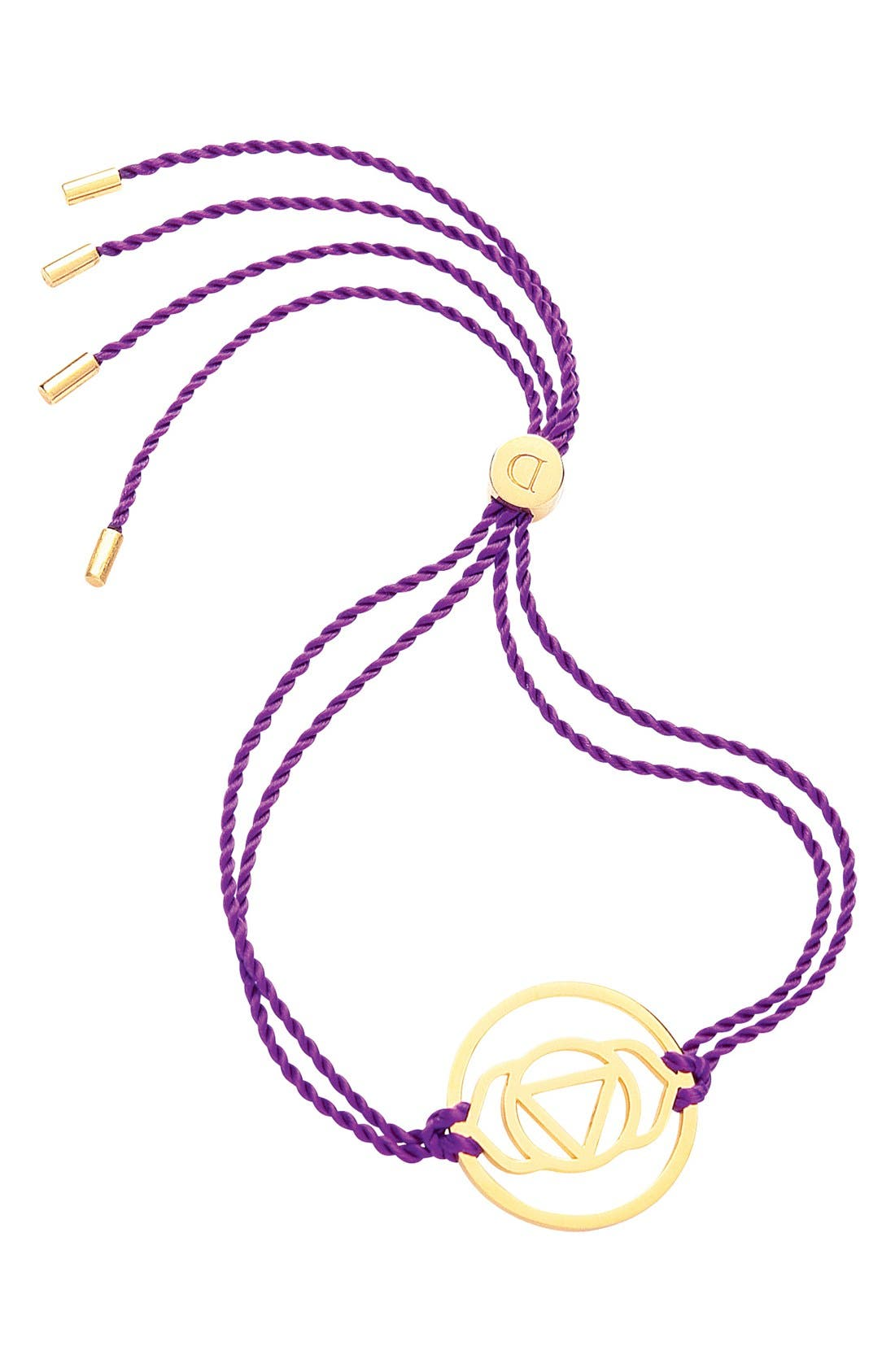 'Brow Chakra' Cord Bracelet,                             Main thumbnail 1, color,