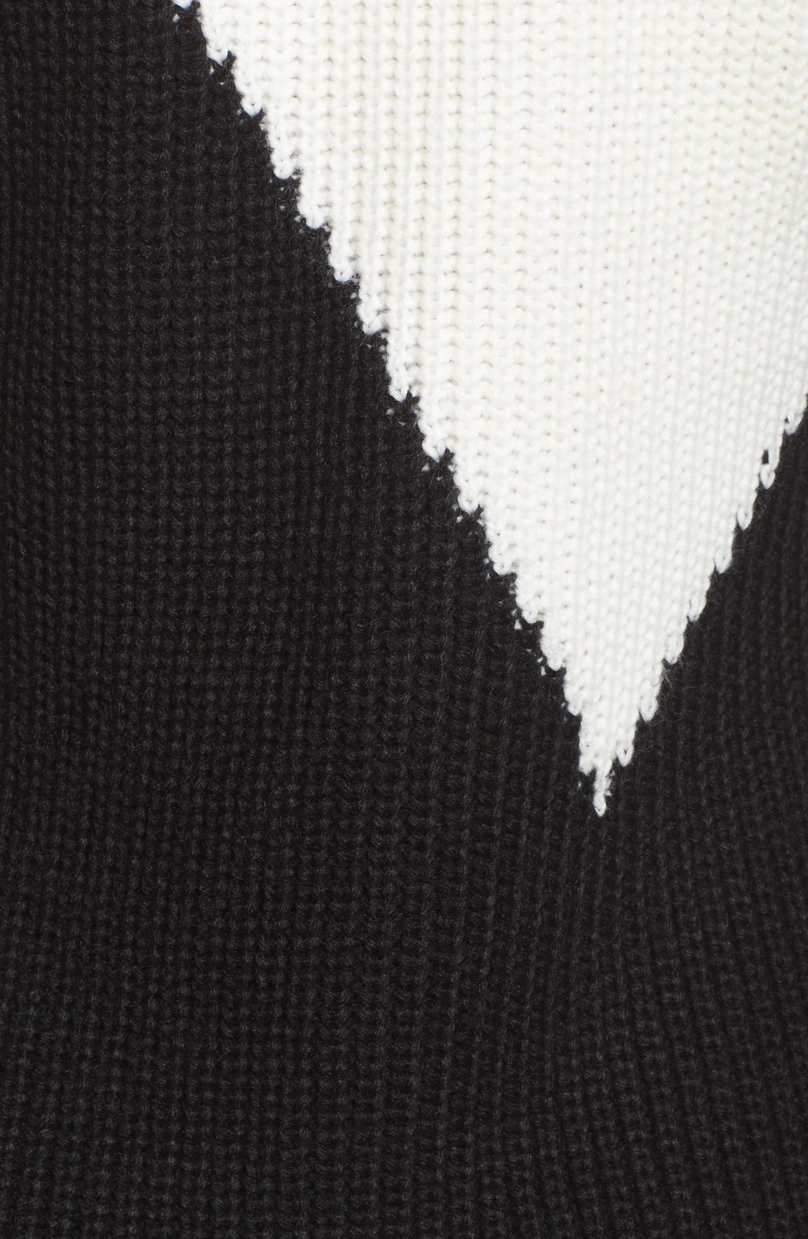 Colorblock Sweater Dress,                             Alternate thumbnail 5, color,                             010
