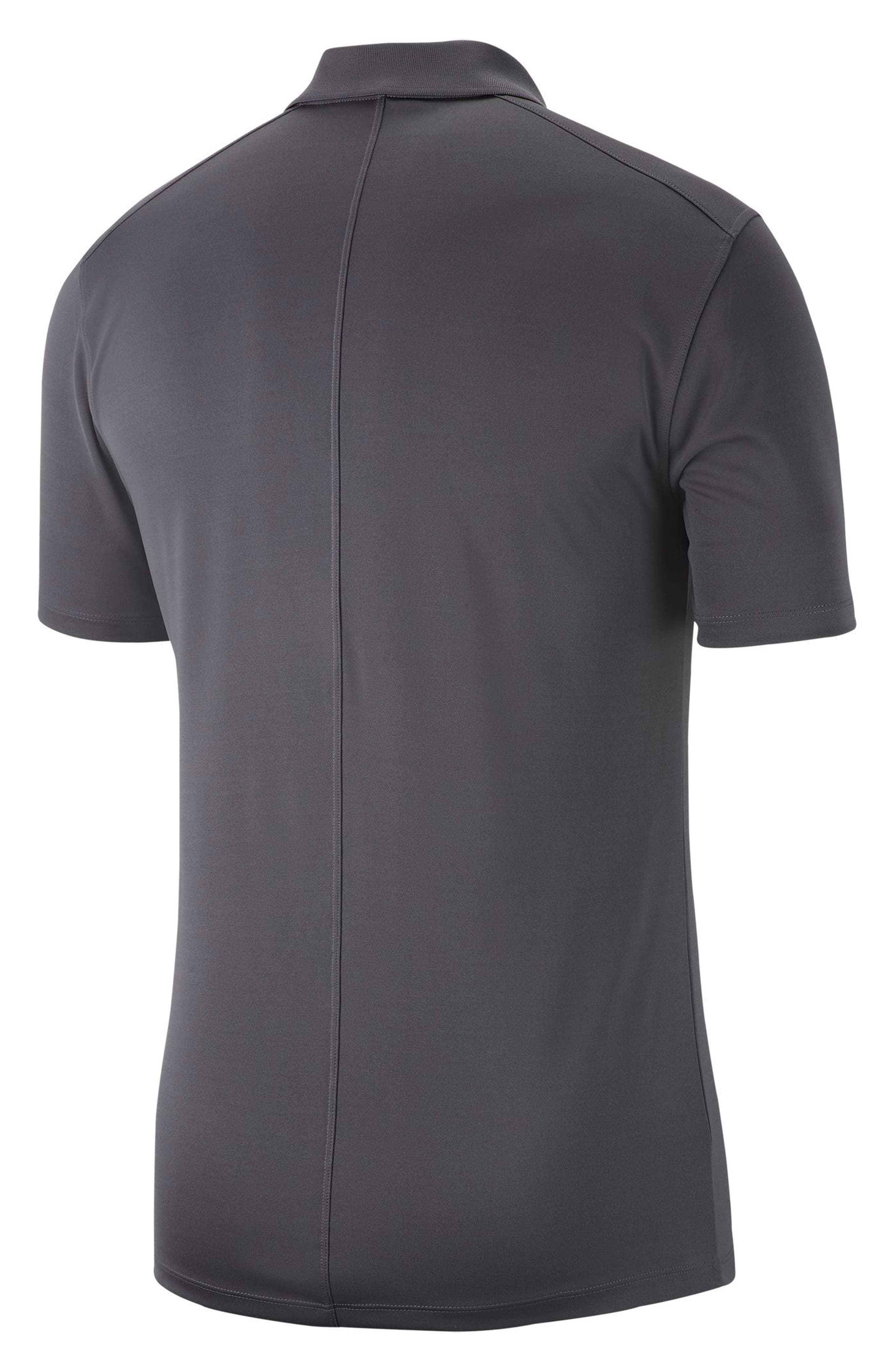 Dry Victory Golf Polo,                             Alternate thumbnail 3, color,                             DARK GREY/ BLACK