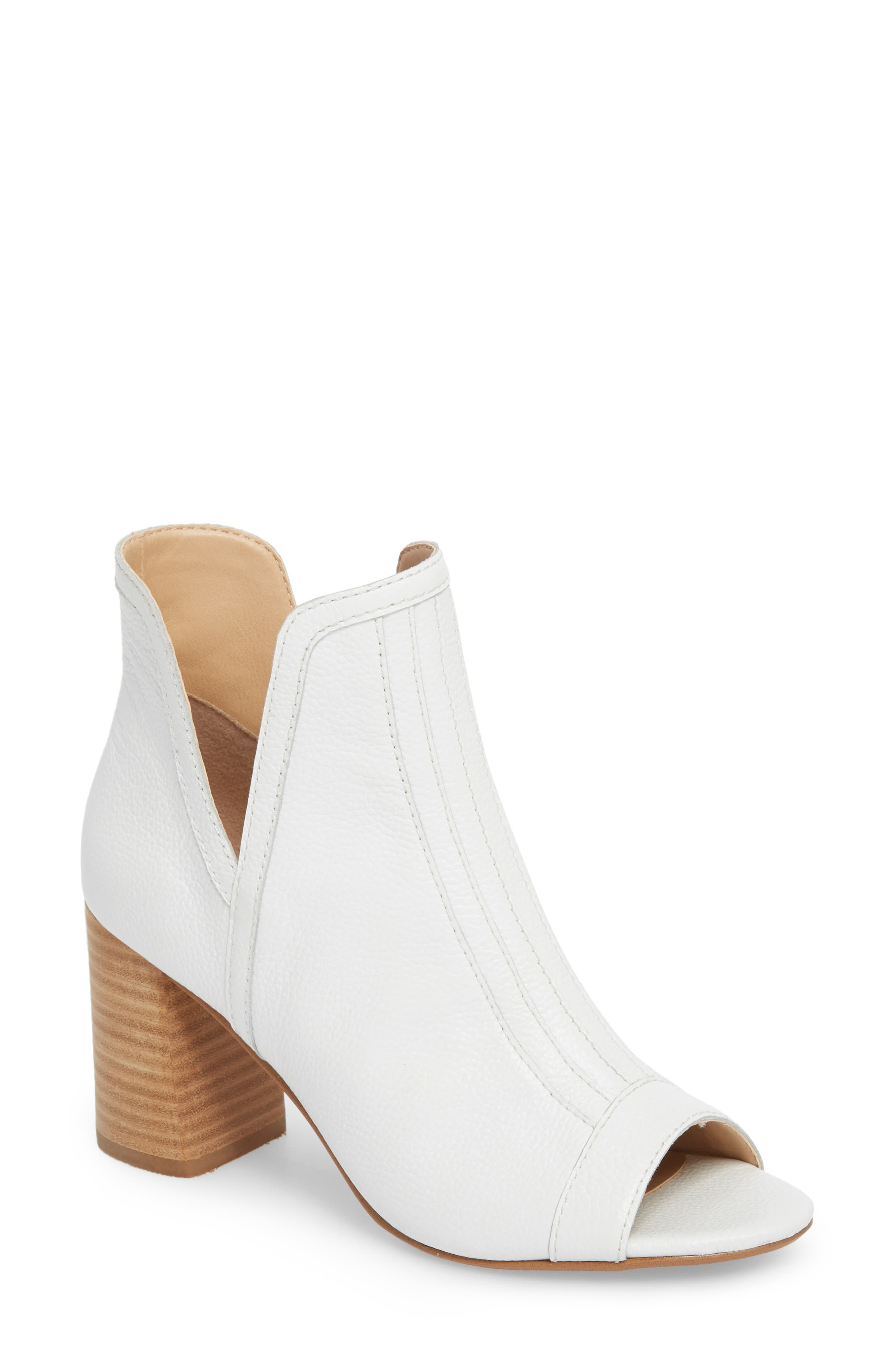 Marla Bootie,                             Main thumbnail 1, color,                             WHITE LEATHER